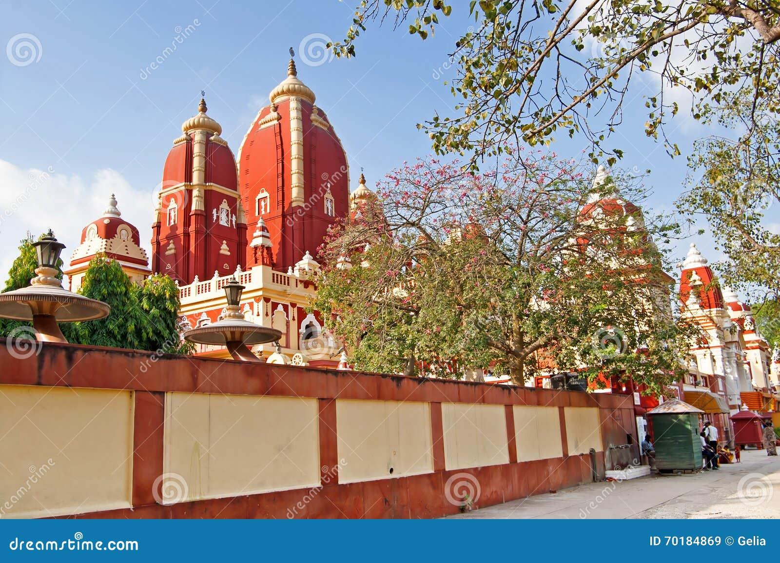 Det oidentifierade folket nära den Laxminarayan templet är en tempel i Delhi, Indien