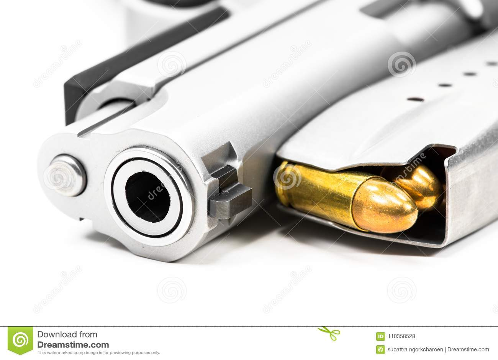 Det pålagda vita golvet för vapen