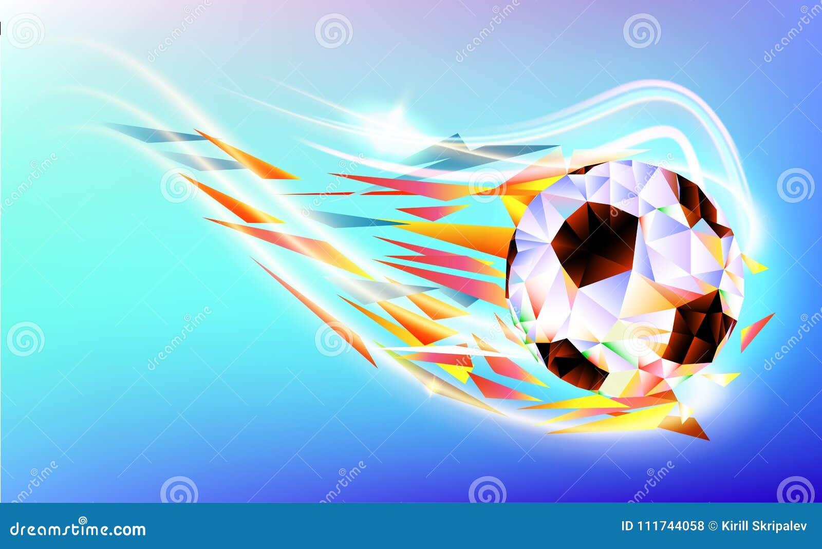 Det polygonal färgrika diagramet av fotboll 2018 för bakgrund för kopp för fotbollvärldsmästerskap