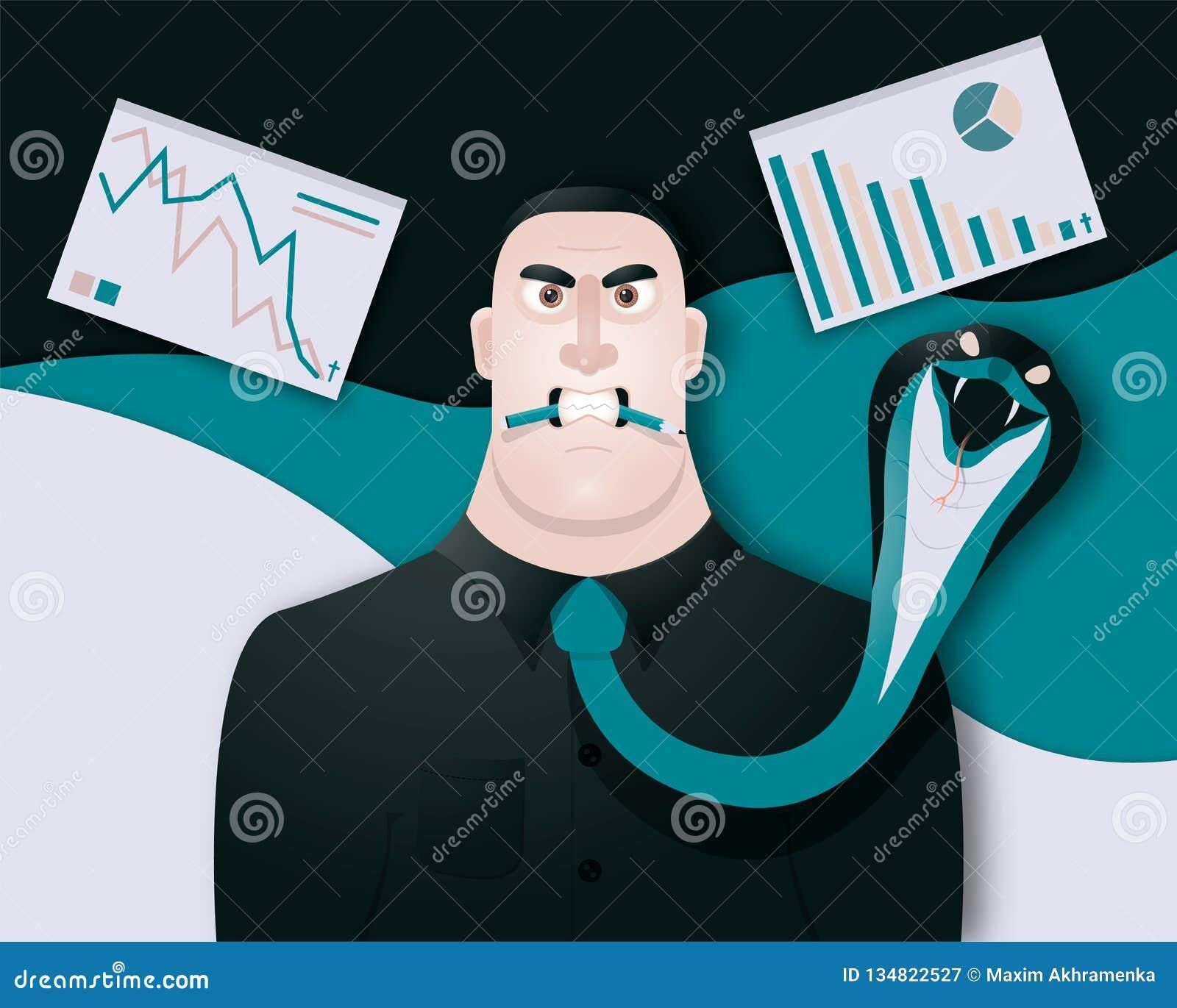 Det roliga men ilskna framstickandet är mycket ilsket, därför att affären ska avsluta snart också vektor för coreldrawillustratio