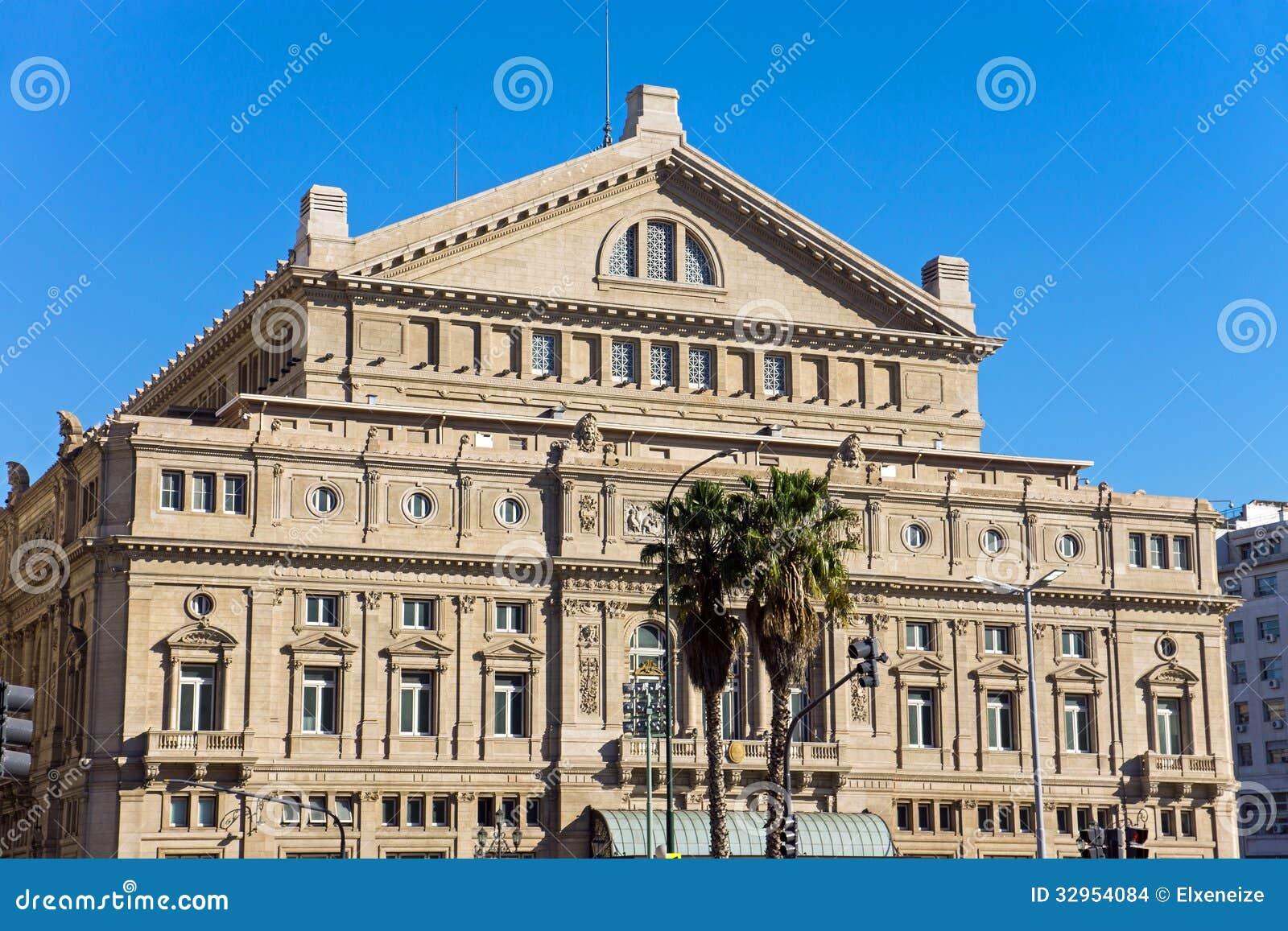 Det Teatro kolonet i Buenos Aires