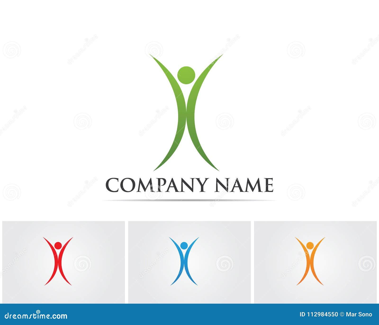 Det vård- framgångfolket att bry sig logo- och symbolmallen