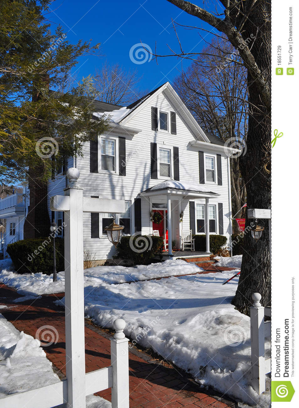 Detached guest house in winter royalty free stock images for House plans with detached guest house