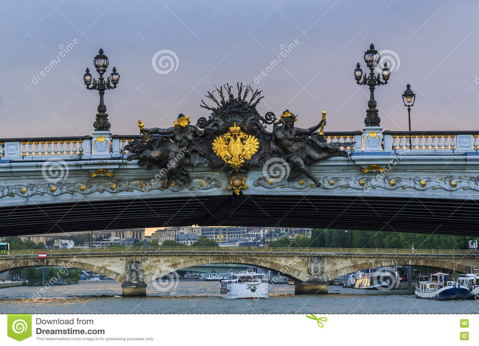 Detail of Alexander III bridge