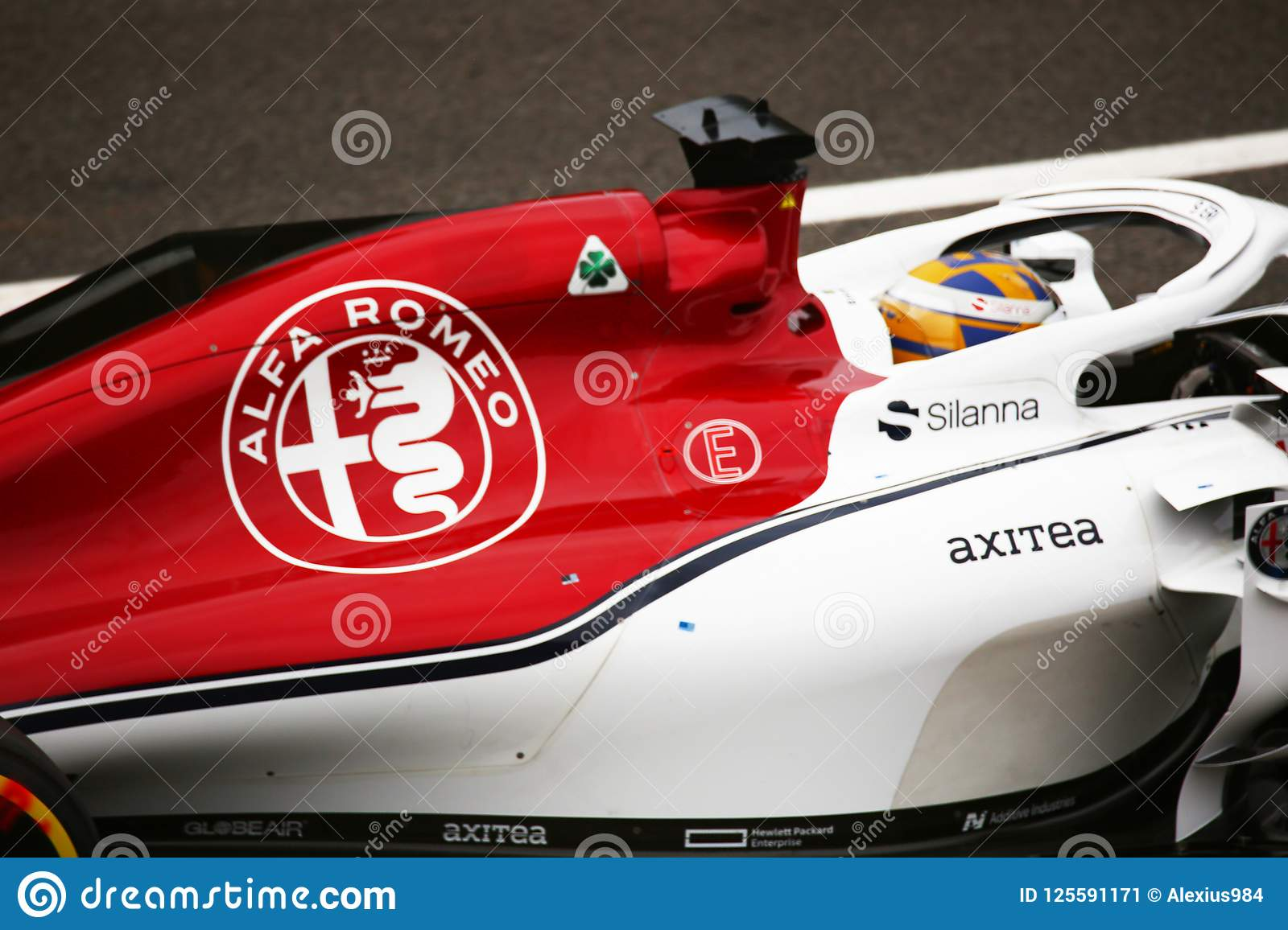 Detail Of Alfa Romeo Driven By Ericsson In Monza 2018