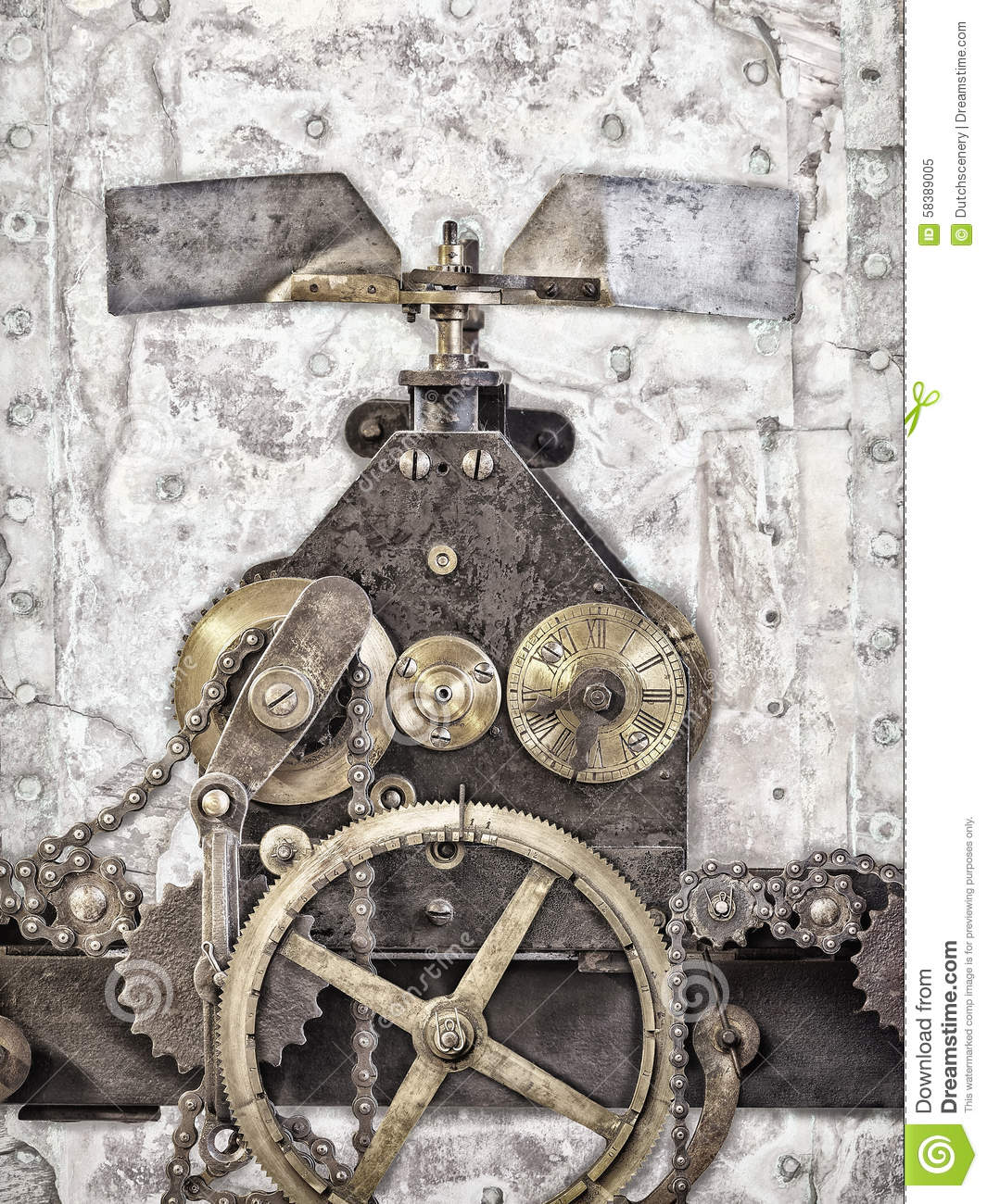 Download Detail Of An Ancient Church Clock Stock Image - Image of dirty, movement: 58389005