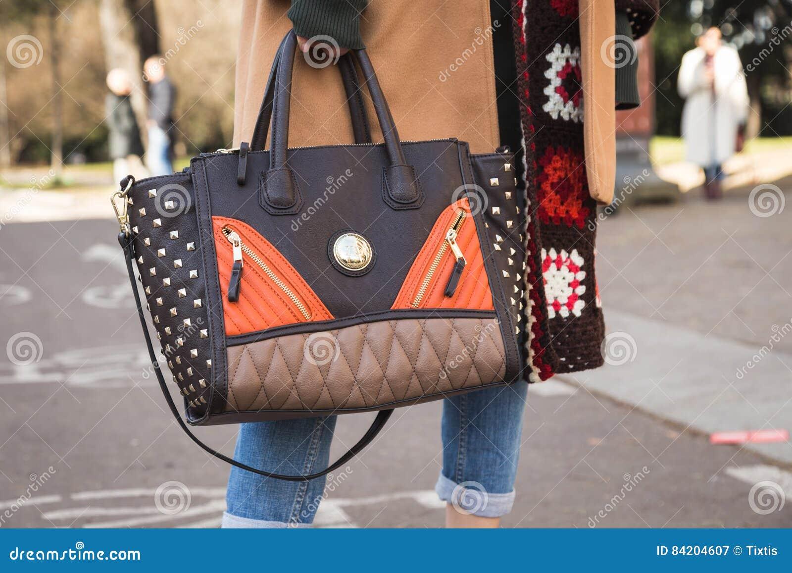 Detail Of Bag At Milan Men`s Fashion Week Editorial ...