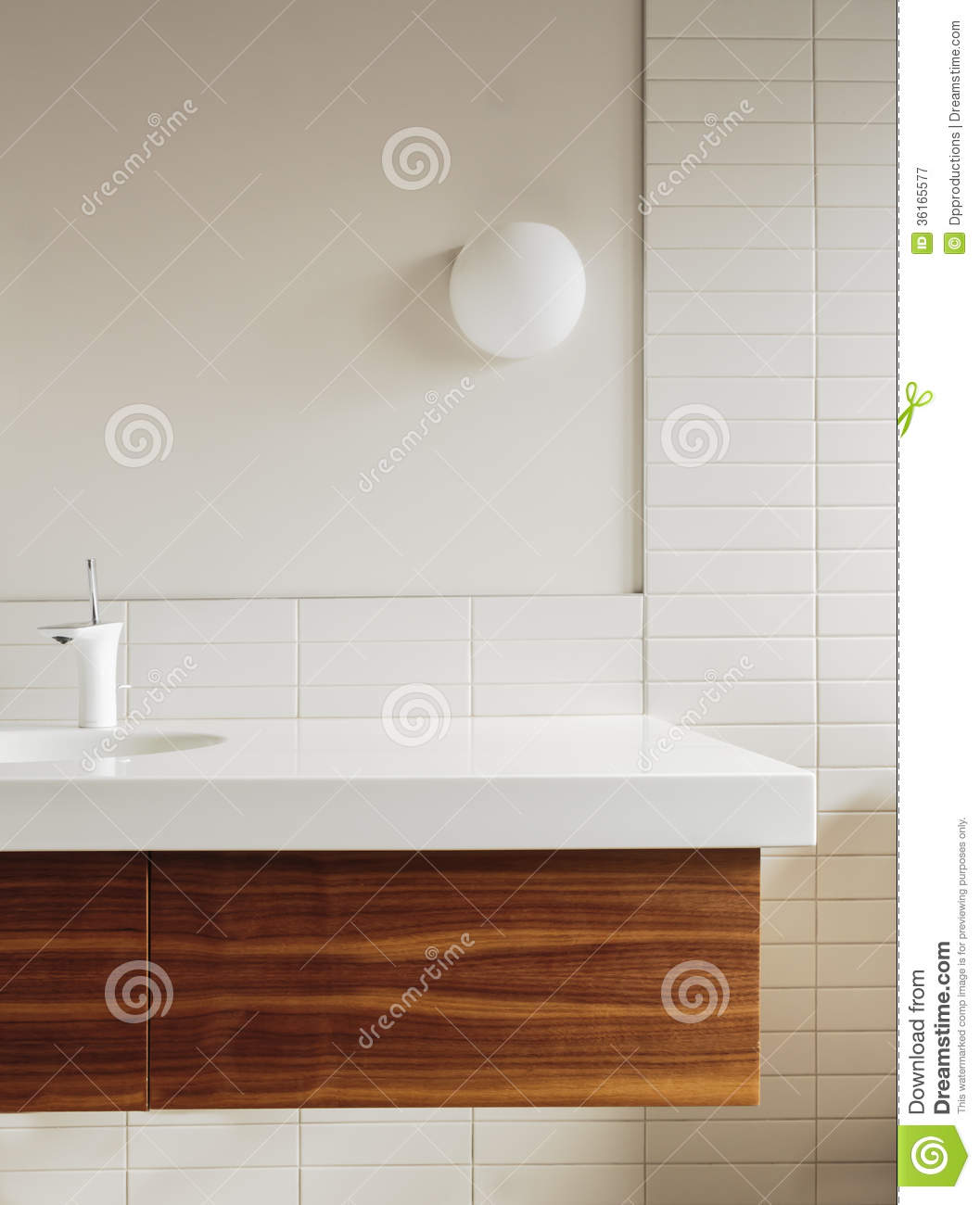 Detail Of Bathroom Counter And Tile In Modern Home Stock Image ...
