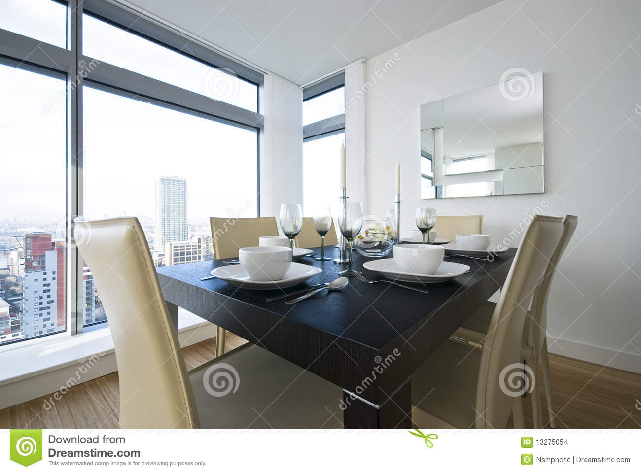 Detail of a beautiful dining area set up stock images for Beautiful dining area