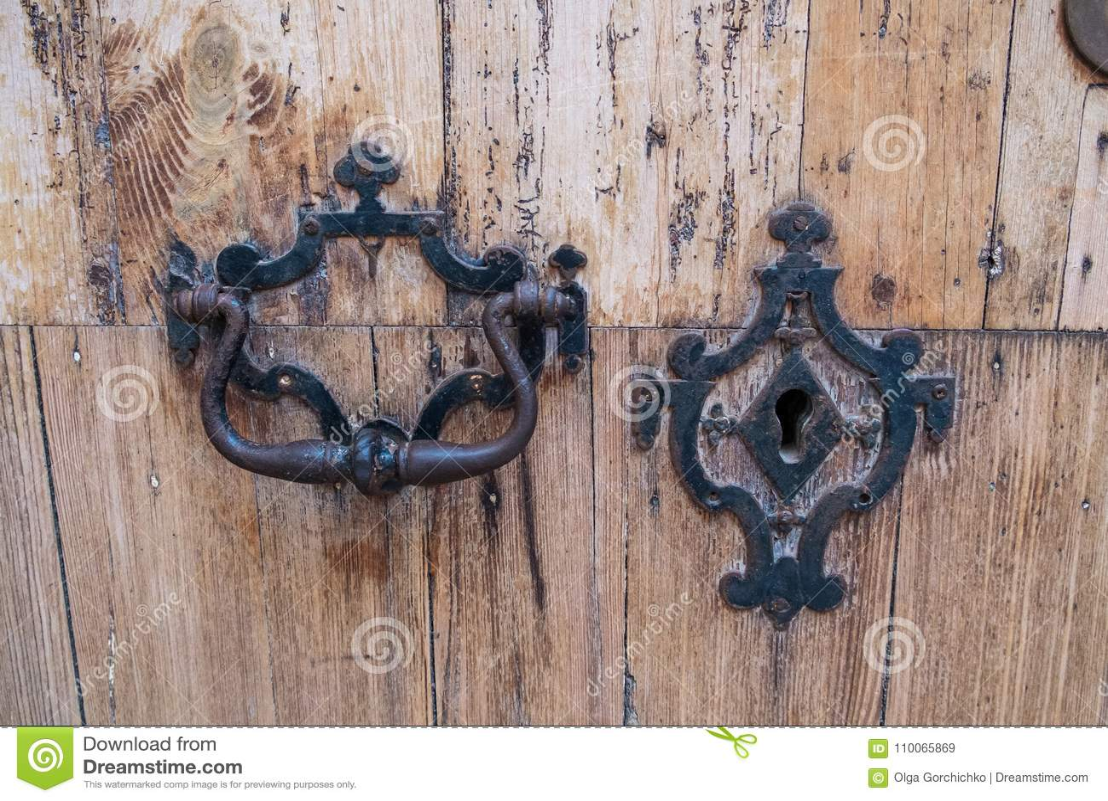 Download Detail Of Beautiful, Ornate Door Knocker Stock Image   Image Of  Handle, Symbol