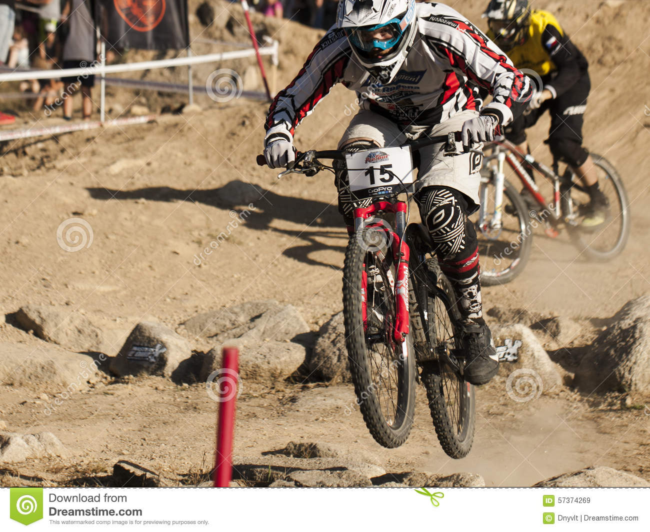 Jablonec nad Nisou Czech Republic  city photos : Detail Of Bikers On Jumps Editorial Editorial Stock Image Image ...