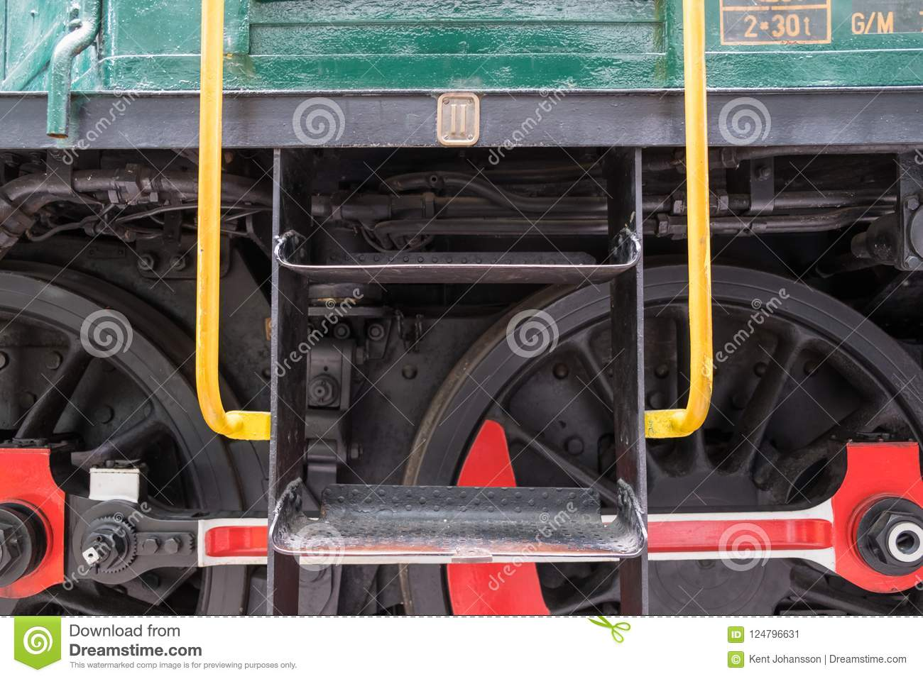 Detail of Wheels on Train Engine
