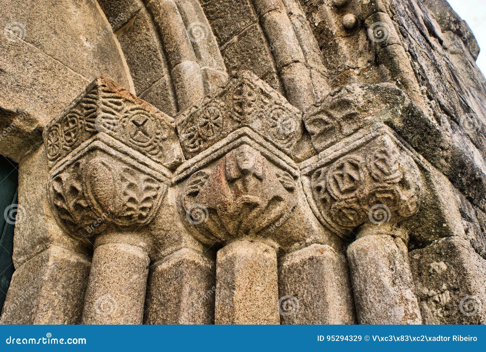 Detail of Boelhe romanesque church in Penafiel