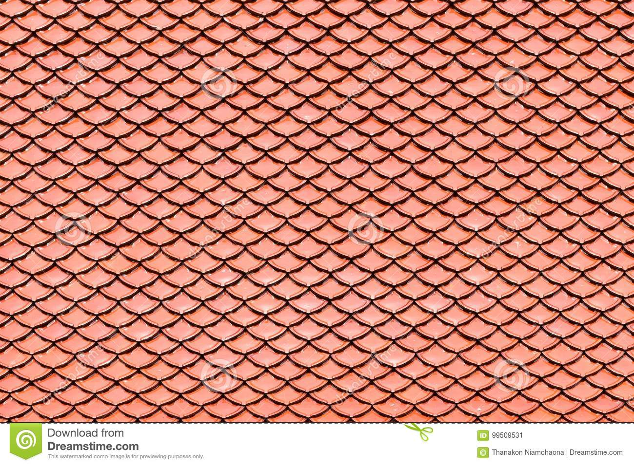 Brown Ceramic Tile Roof Texture For Background Stock Image Image