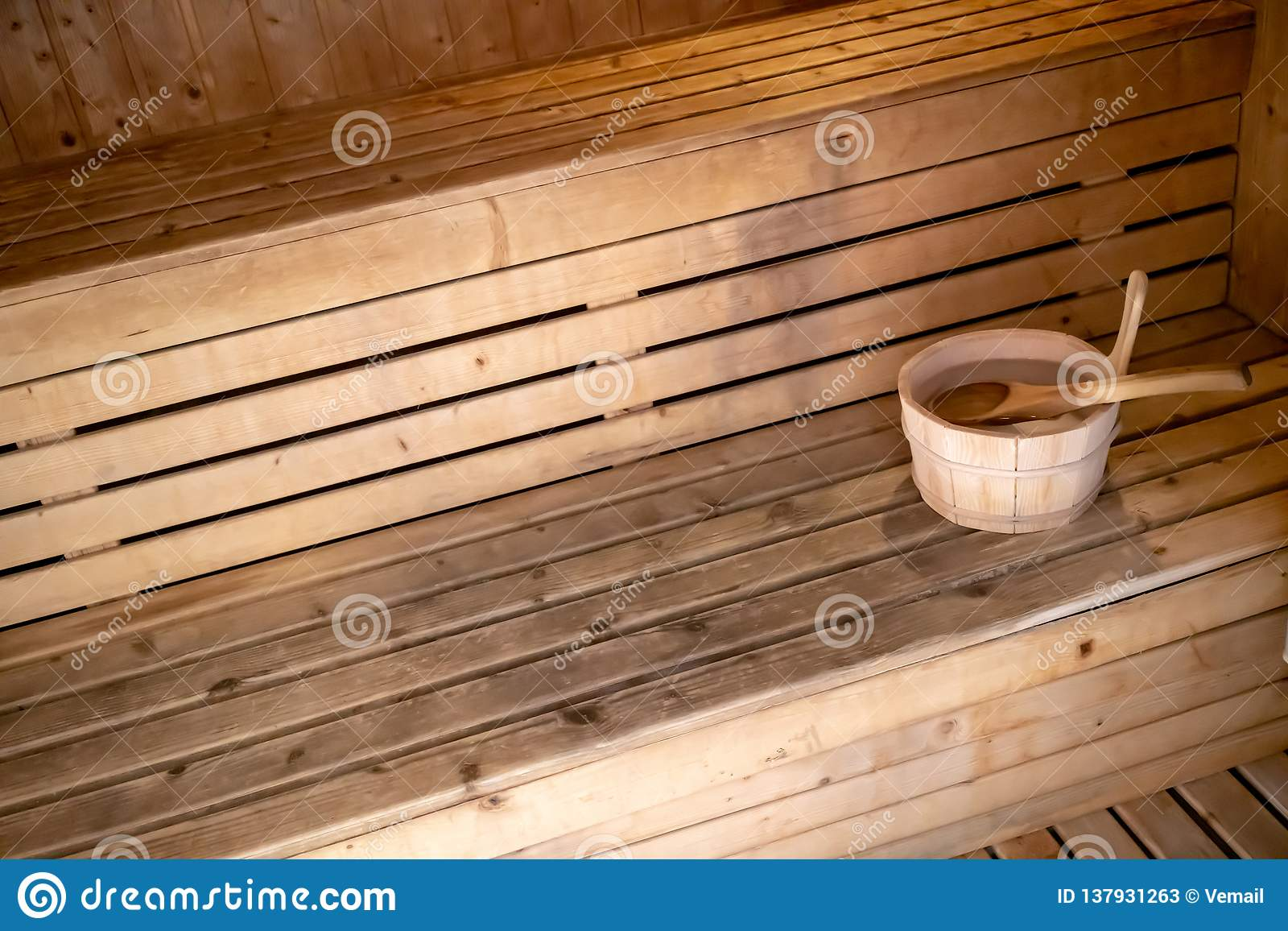 Groovy Detail Of Bucket And Wood Spoon On A Wooden Bench Small Pdpeps Interior Chair Design Pdpepsorg