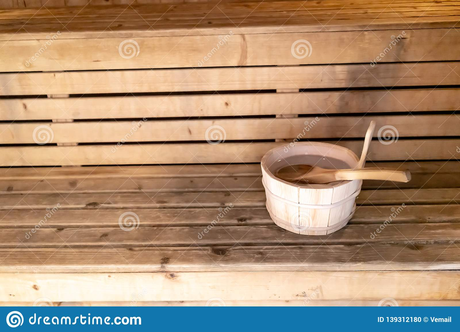 Outstanding Detail Of Bucket And Wood Spoon On A Wooden Bench Small Pdpeps Interior Chair Design Pdpepsorg