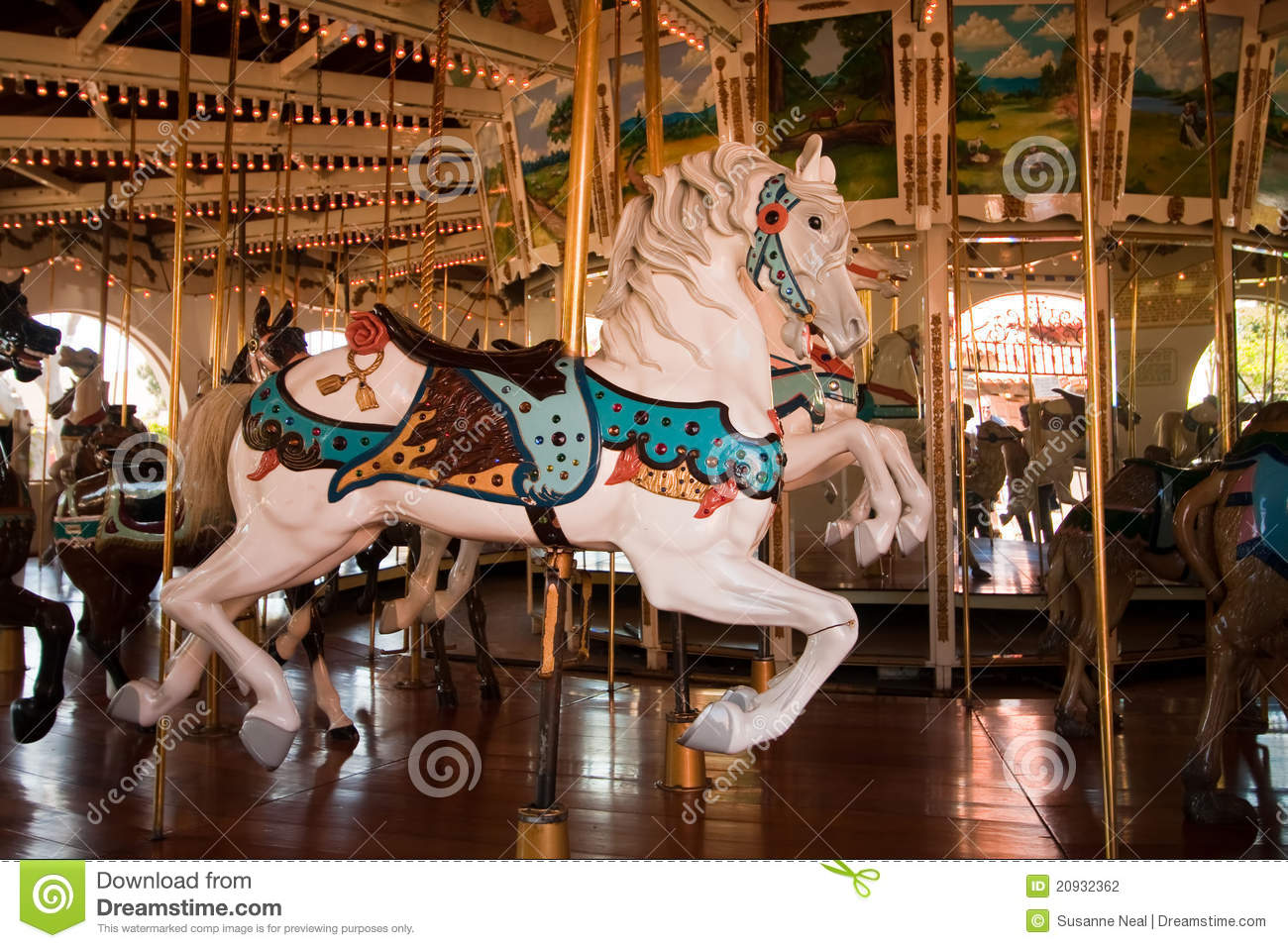 Detail of a carousel horse