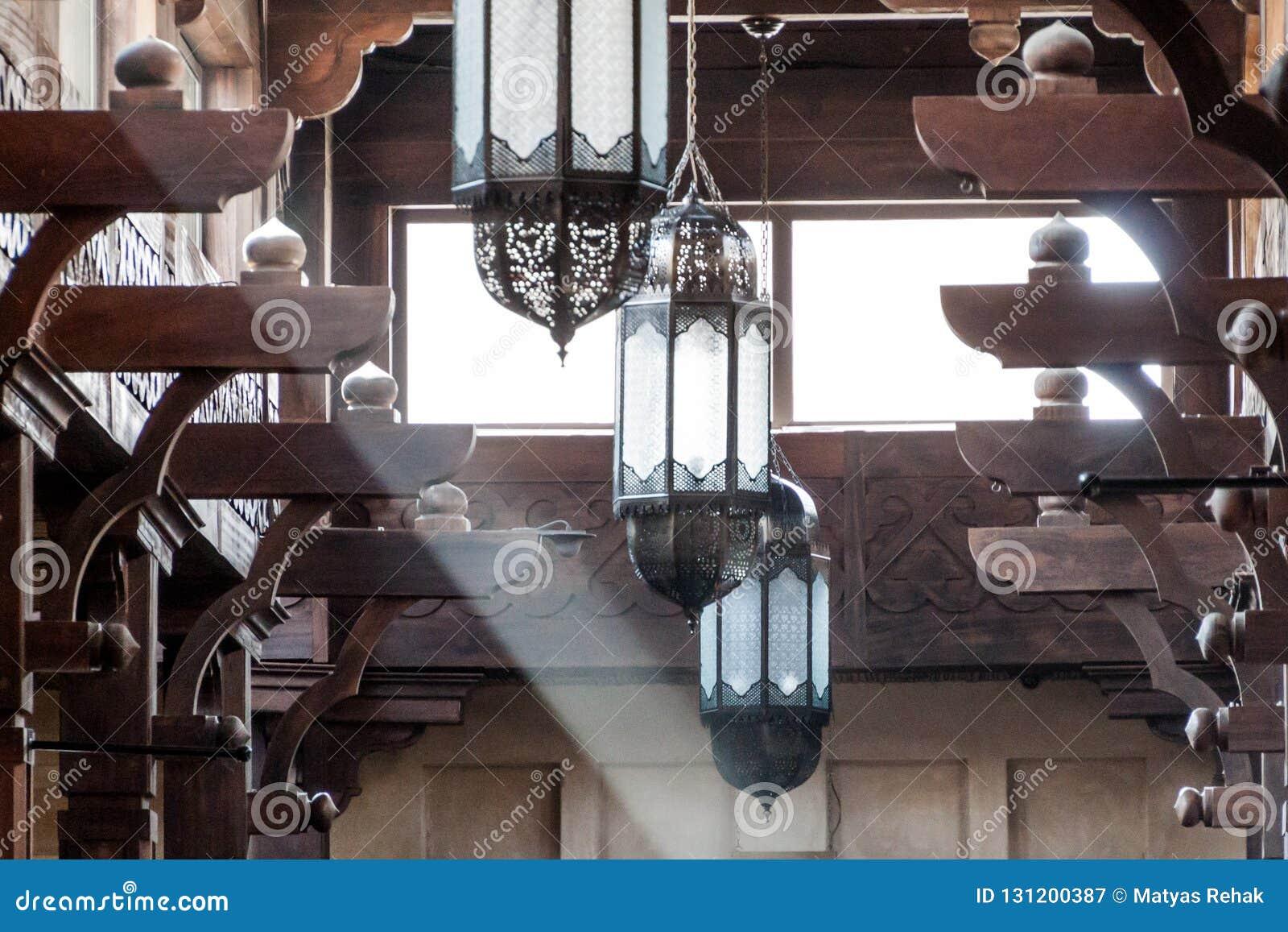 Detail Of A Ceiling Of Madinat Jumeirah Souq In Dubai, United Arab