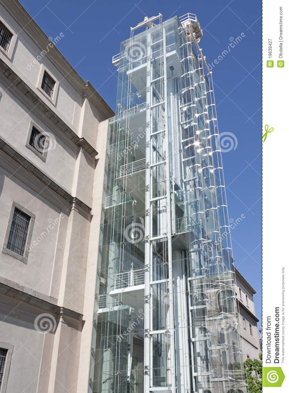Detail Of Centro De Arte Reina Sofia In Madrid Editorial Photography - Image:...
