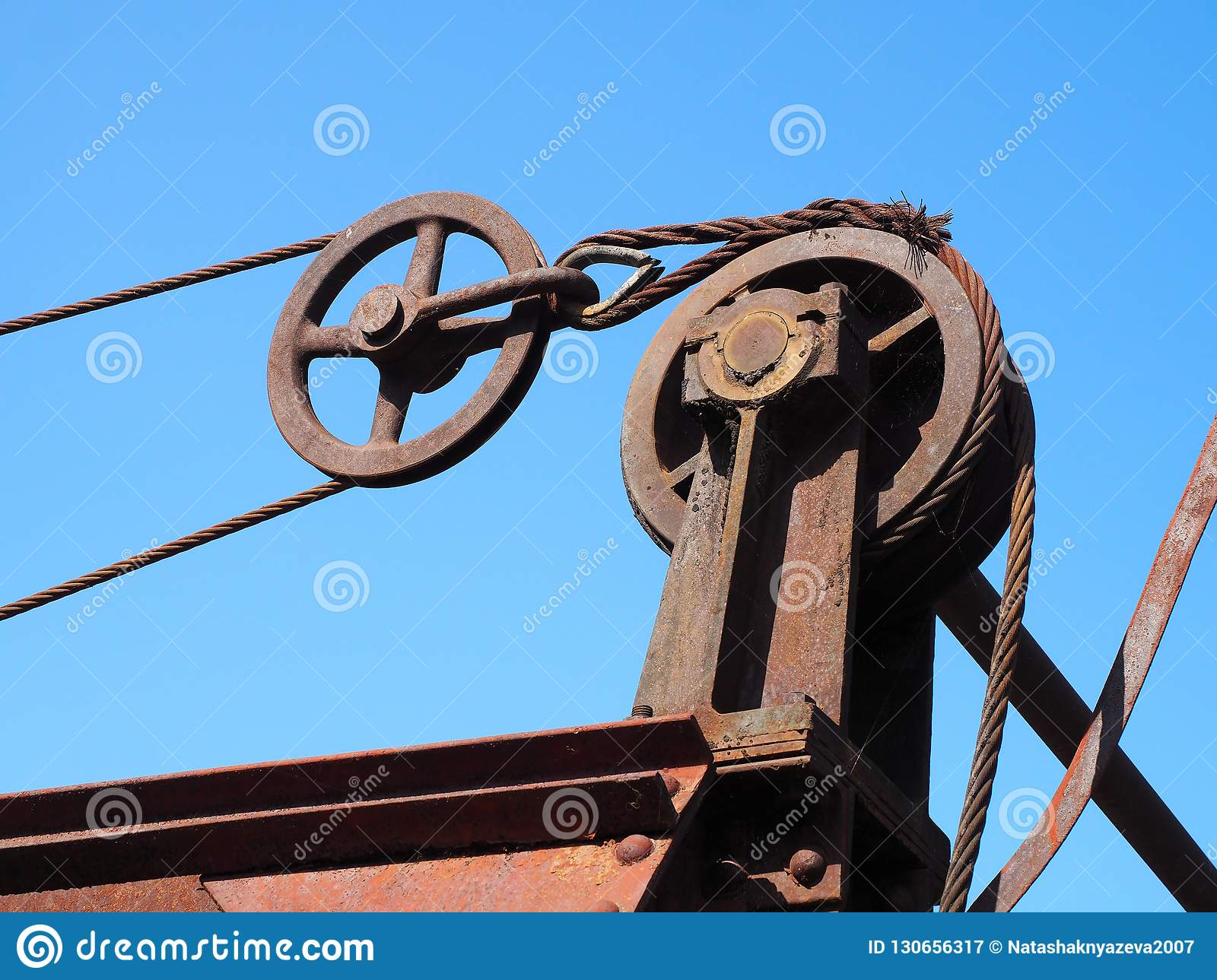 Detail of closing mechanism of old