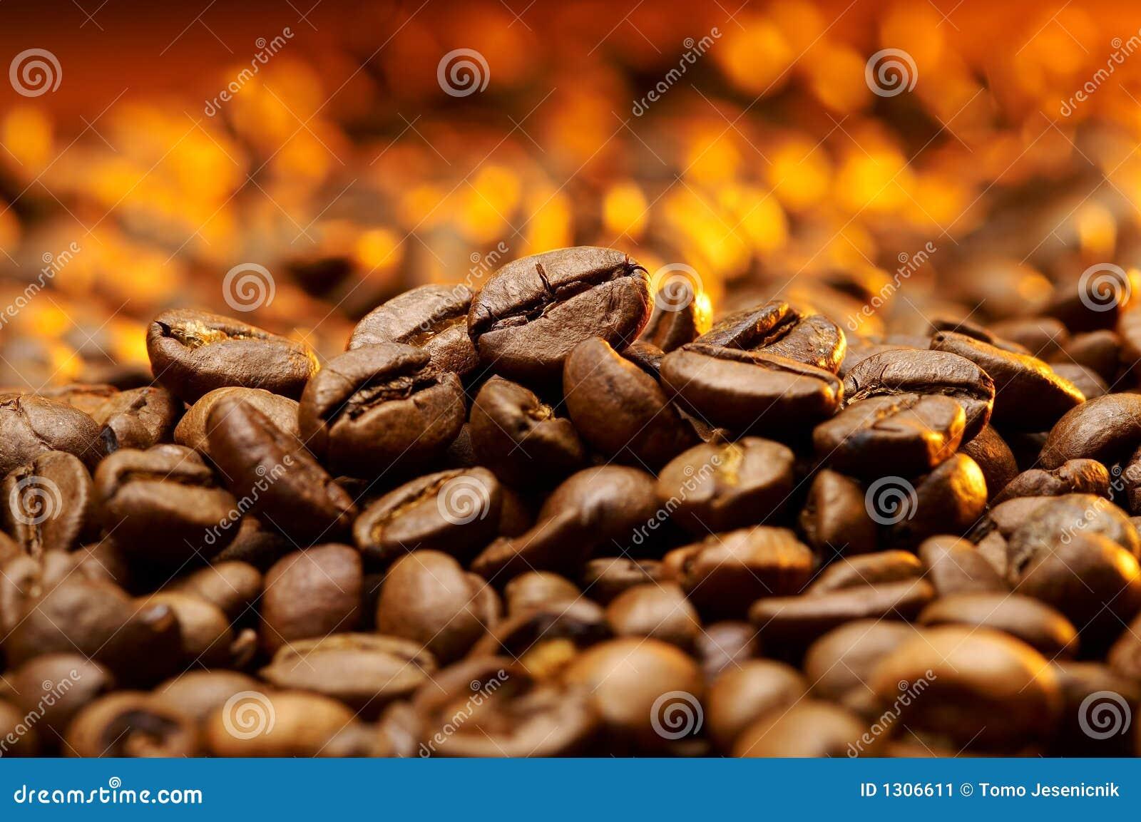 A detail of coffe grains