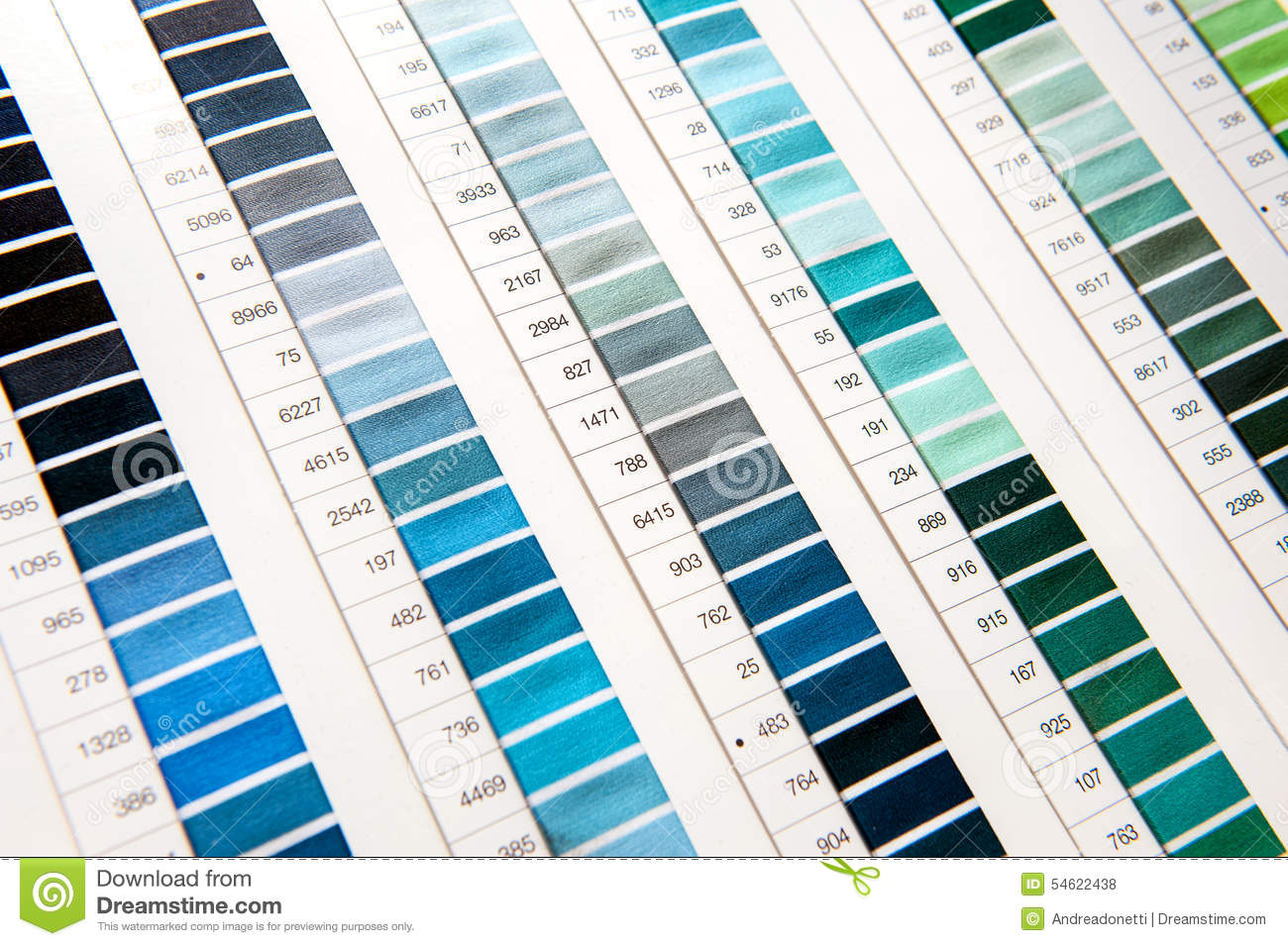 Detail Of Color Chart In Clothing Design Studio Stock Photo Image