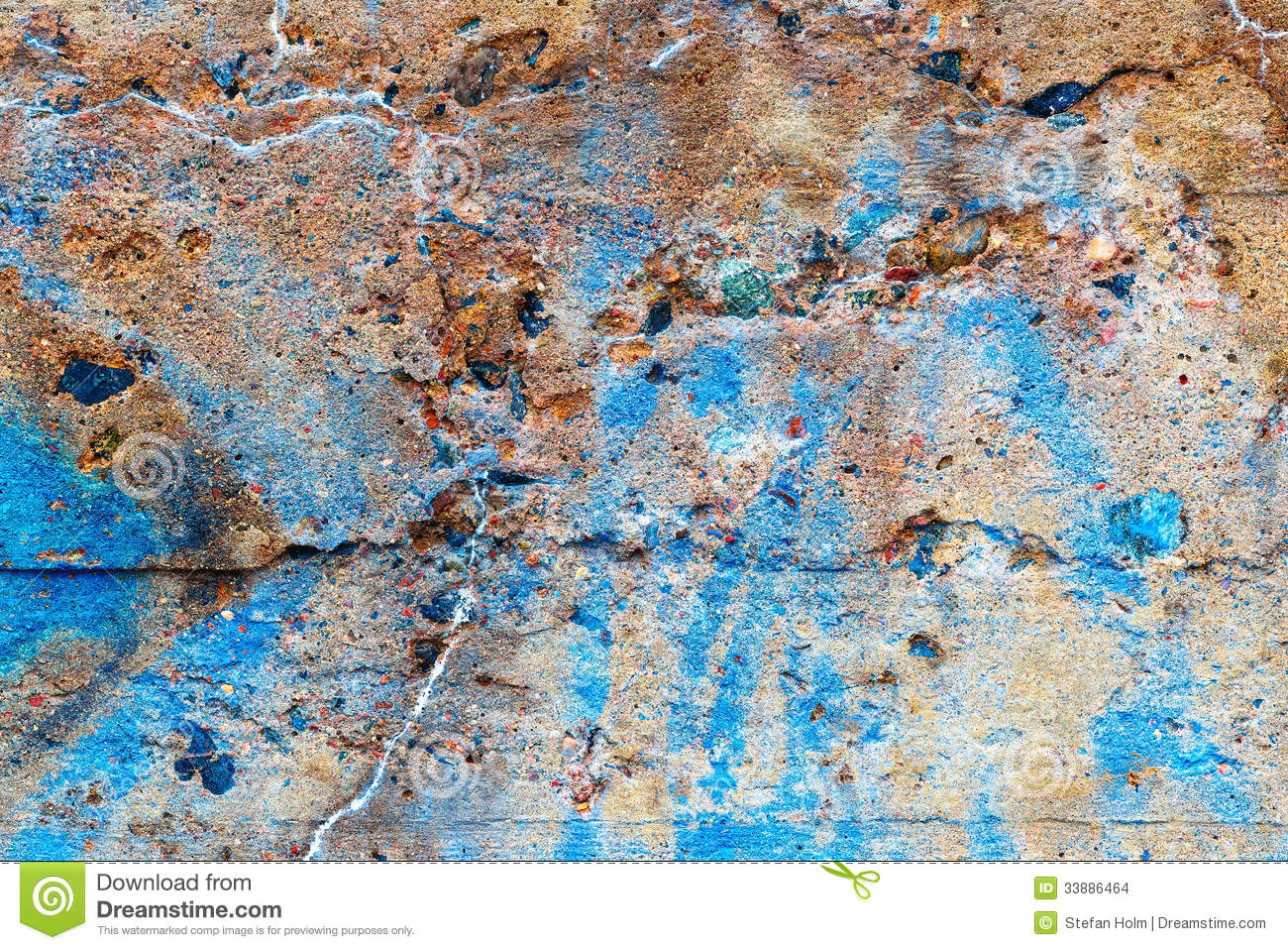 Cement Wall Graffiti : Detail of concrete wall covered with graffiti stock images