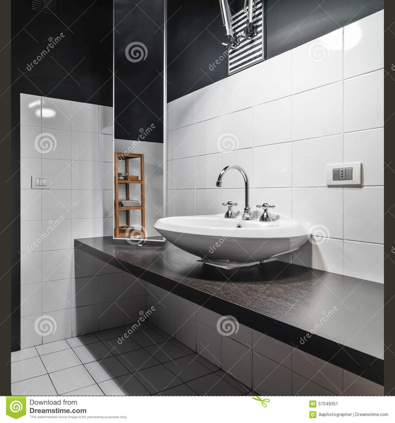 detail of counter top washbasin in a modetn bathroom stock image image 57049351. Black Bedroom Furniture Sets. Home Design Ideas
