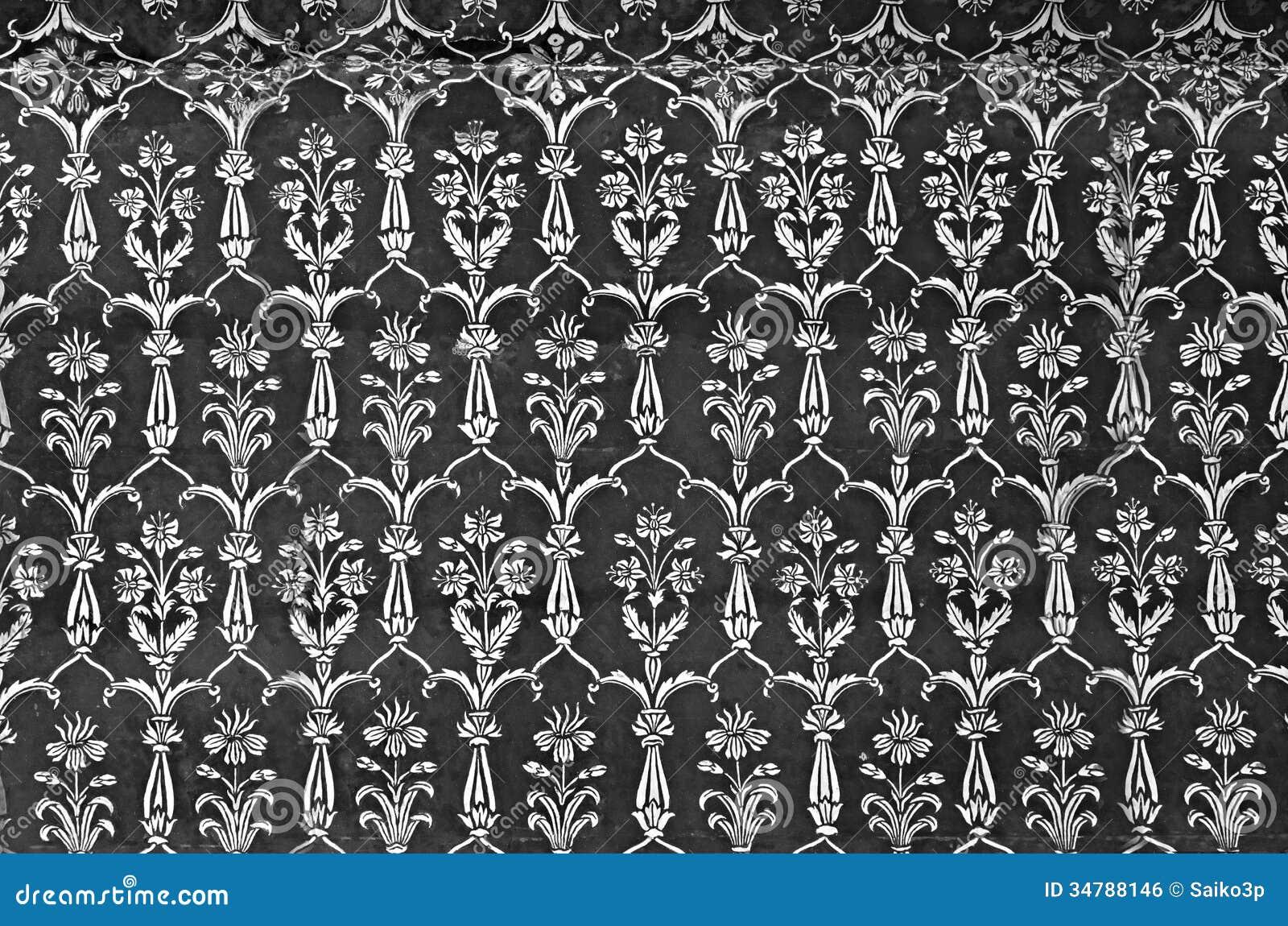 Detail Of Decorating The Taj Mahal Royalty Free Stock