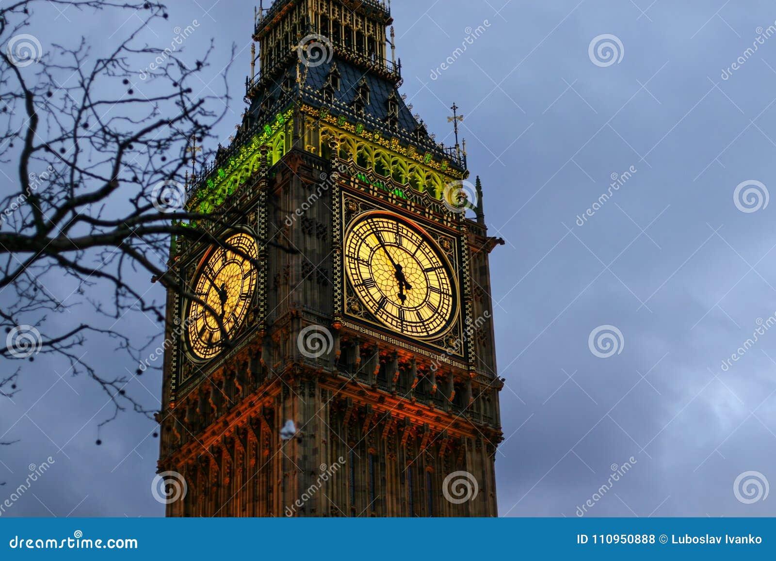 Detail der Uhr auf Big Ben in London