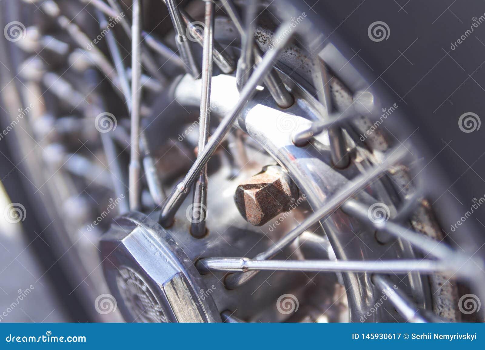 Detail der Wagenräder, Oldtimer