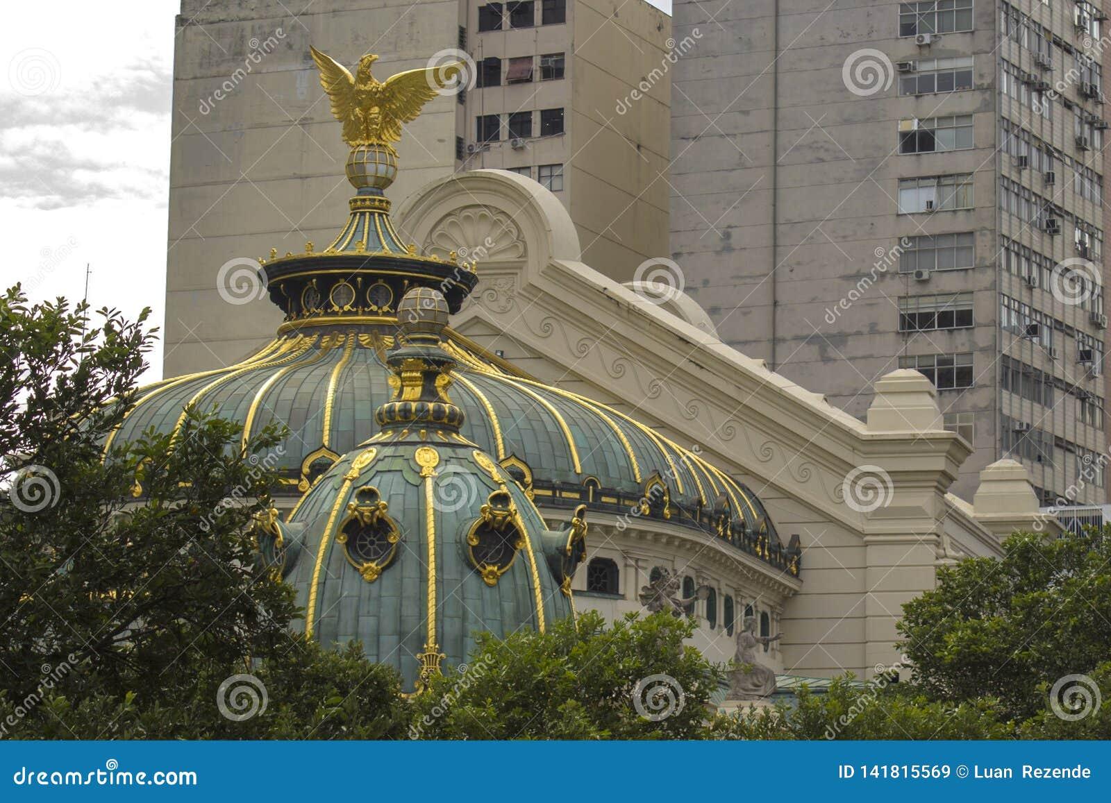 Detail des städtischen Theaters Dieses ist das Opern- und Balletttheater in Rio de Janeiro Es wurde im Jahre 1907 errichtet