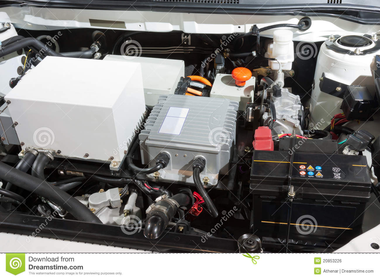 Detail Of A Electric Car Engine Royalty Free Stock Image Image