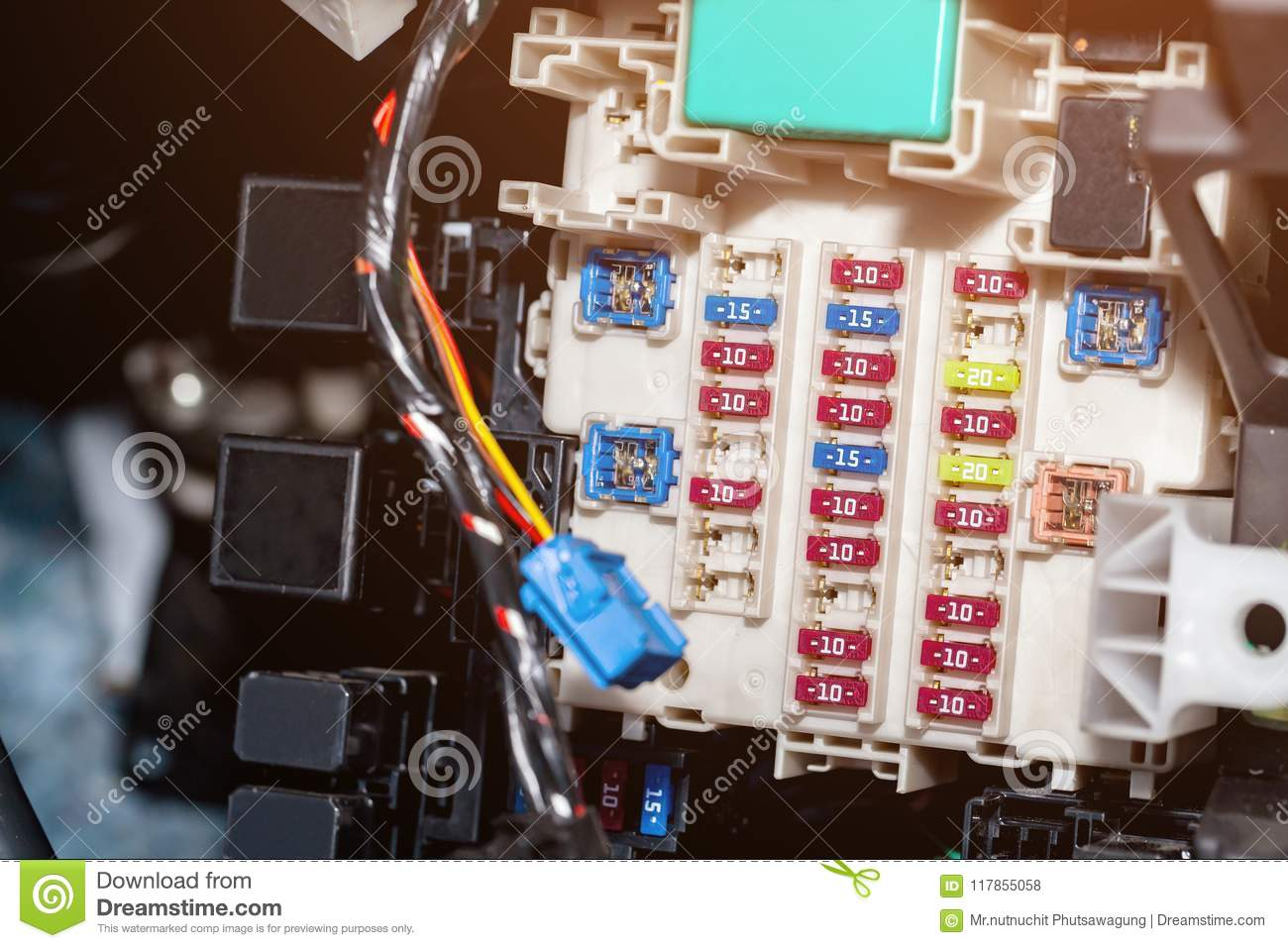 Detail Of An Electronic Printed Circuit Board Stock Photo Image With Many Electrical Components