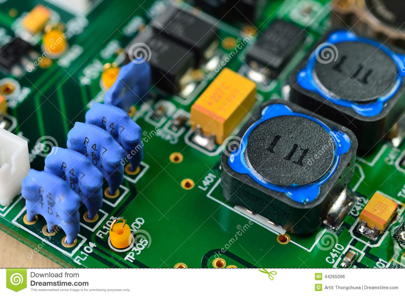 detail of integrated circuit board royalty free stock Electronic Circuit Symbols Blank Circuit Board Material