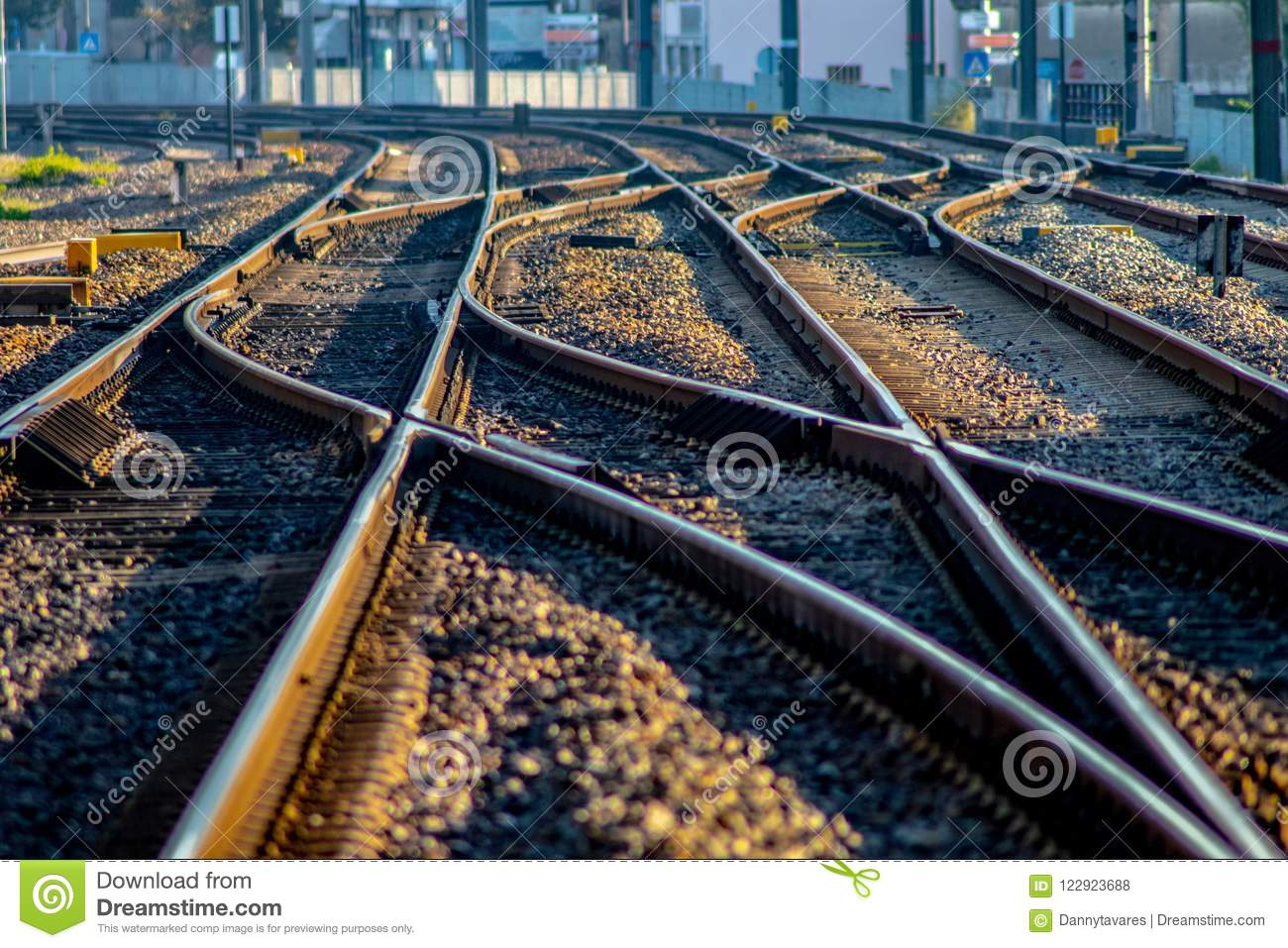 Detail of an european train track