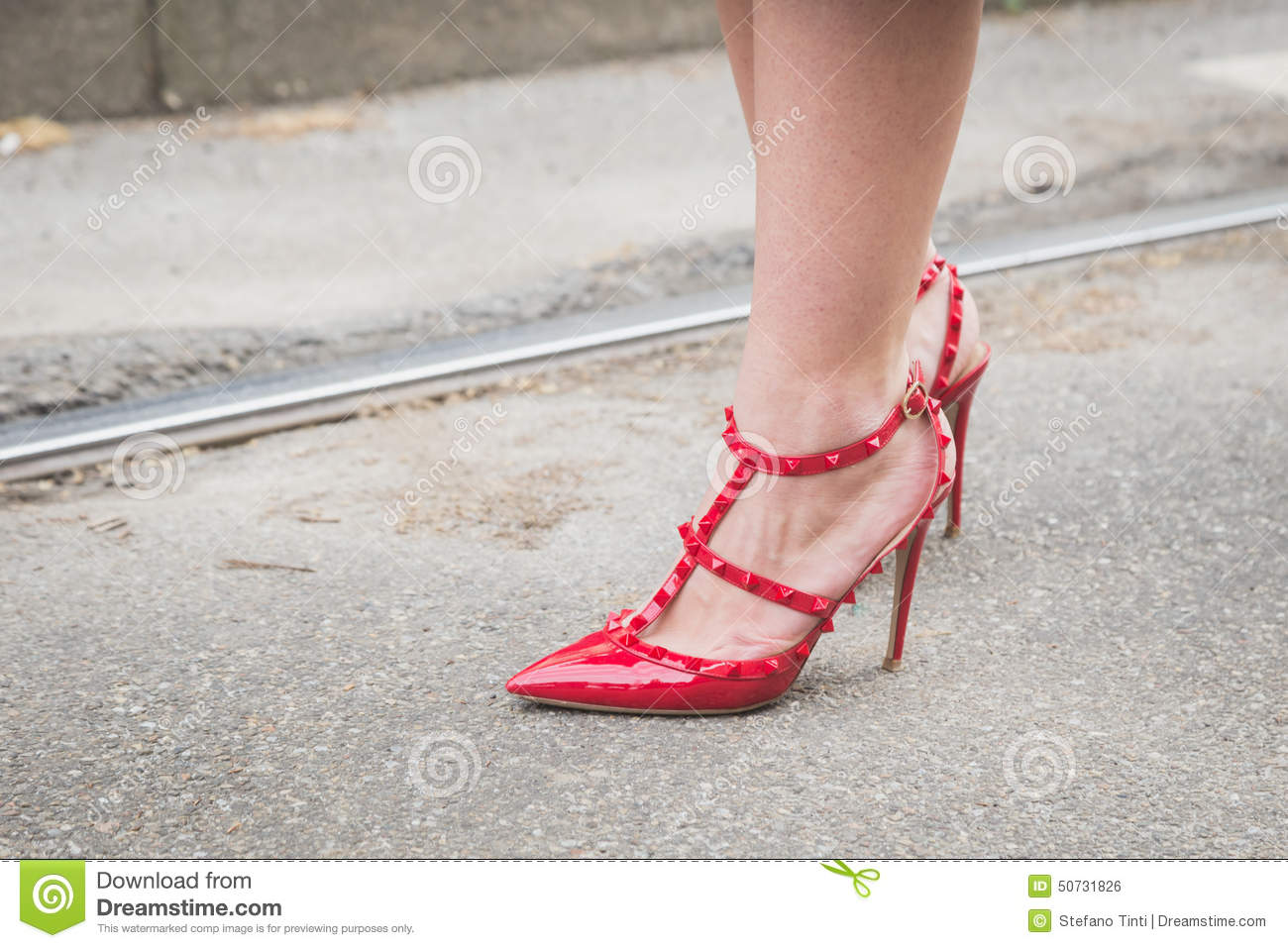Detail Of Female Shoes Outside Gucci Fashion Show Building For M Editorial Photo Image Of Model Female 50731826