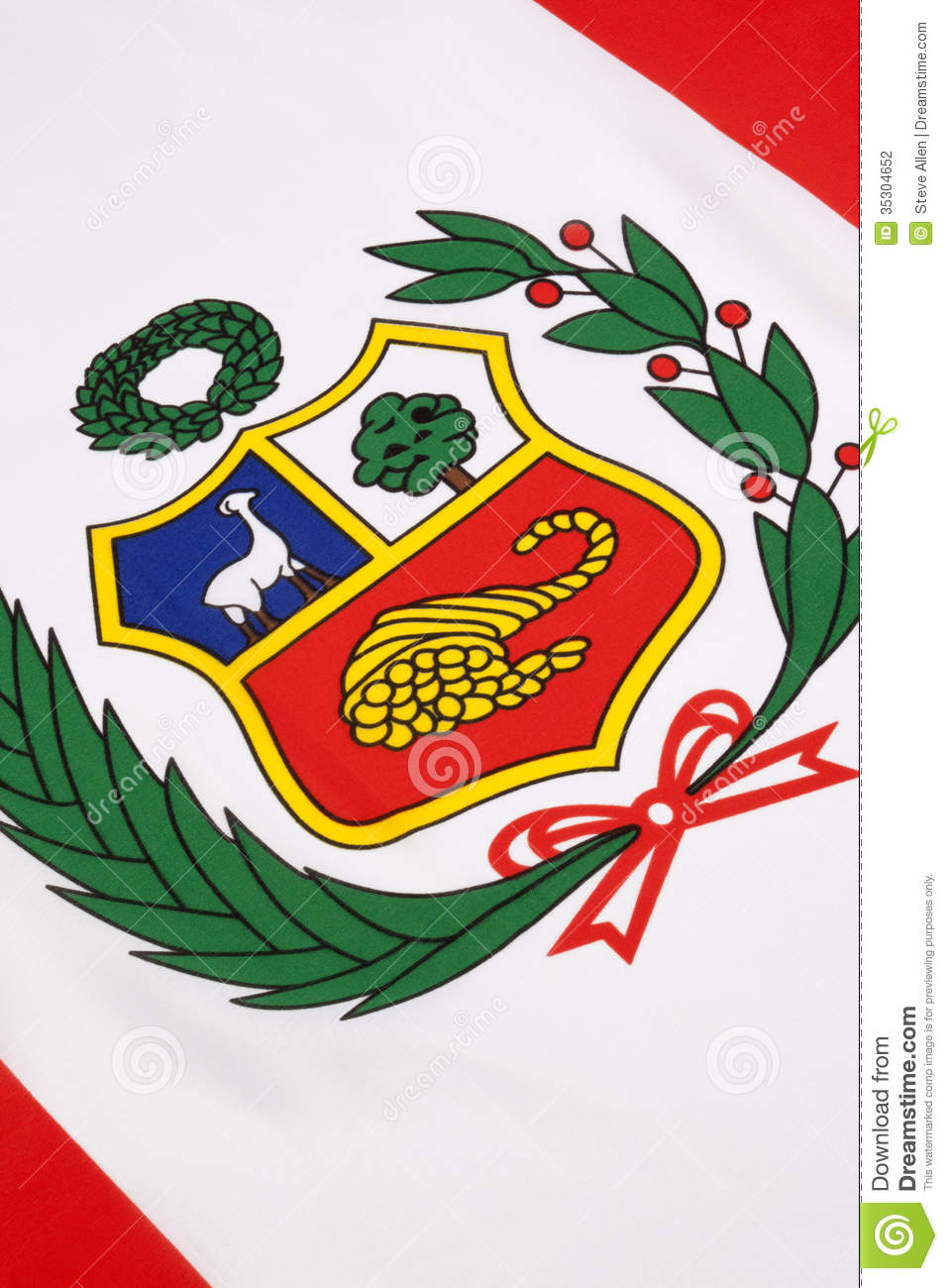 Detail On The Flag Of Peru Stock Photography - Image: 35304652