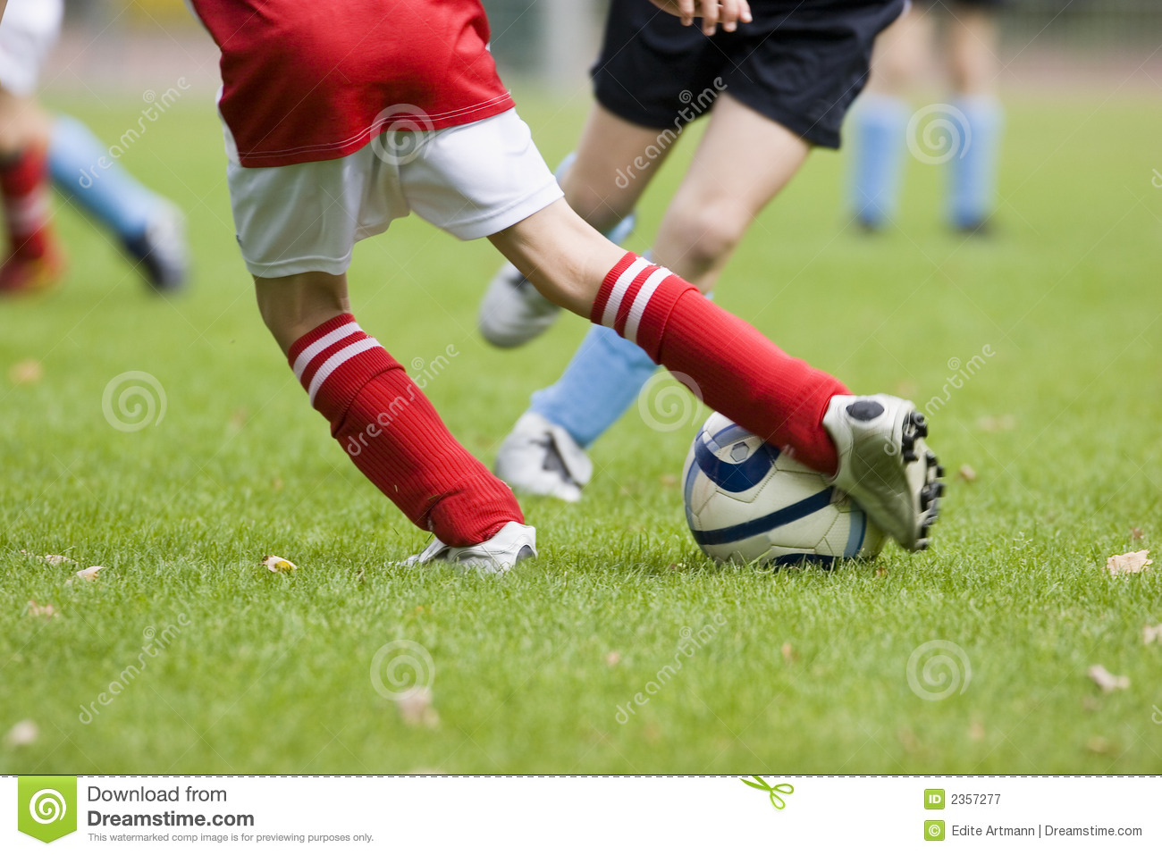 Detail Of A Football Match Stock Image Image Of Movement 2357277