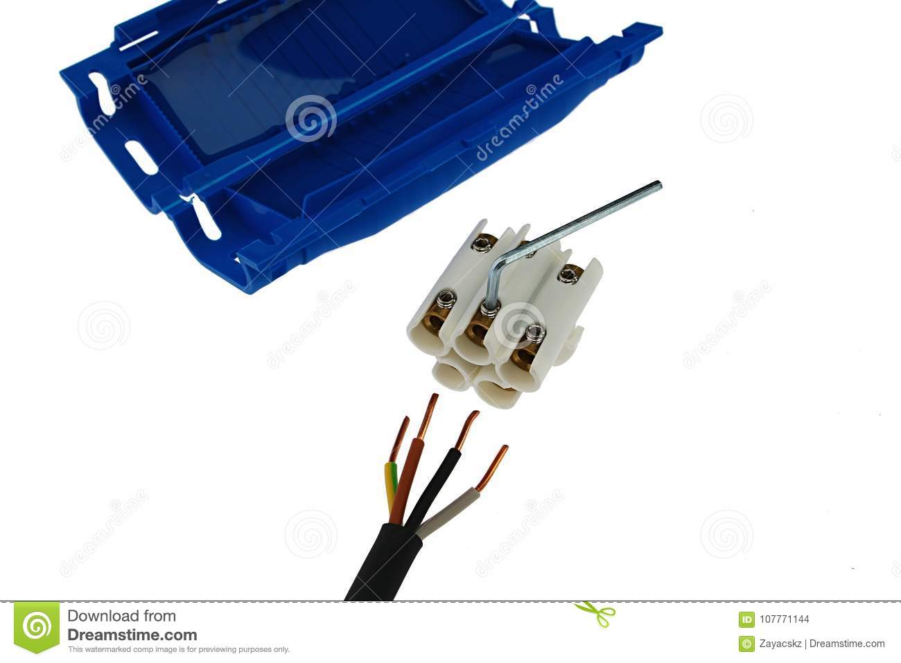 Detail Of Gel Insulation Cable Joint With Connector, Allen Wrench ...