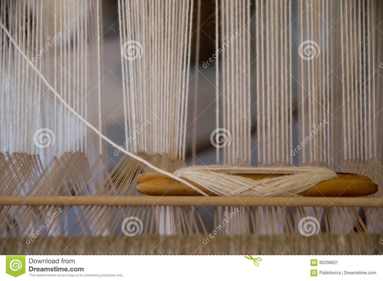 Detail of a hand loom