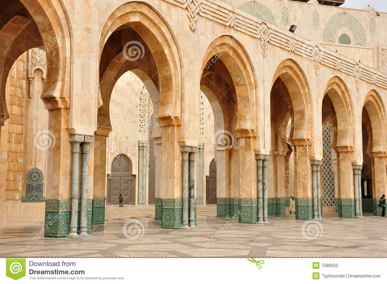 Mosque Detail: Detail Of Hassan II Mosque In Casablanca Stock Photography
