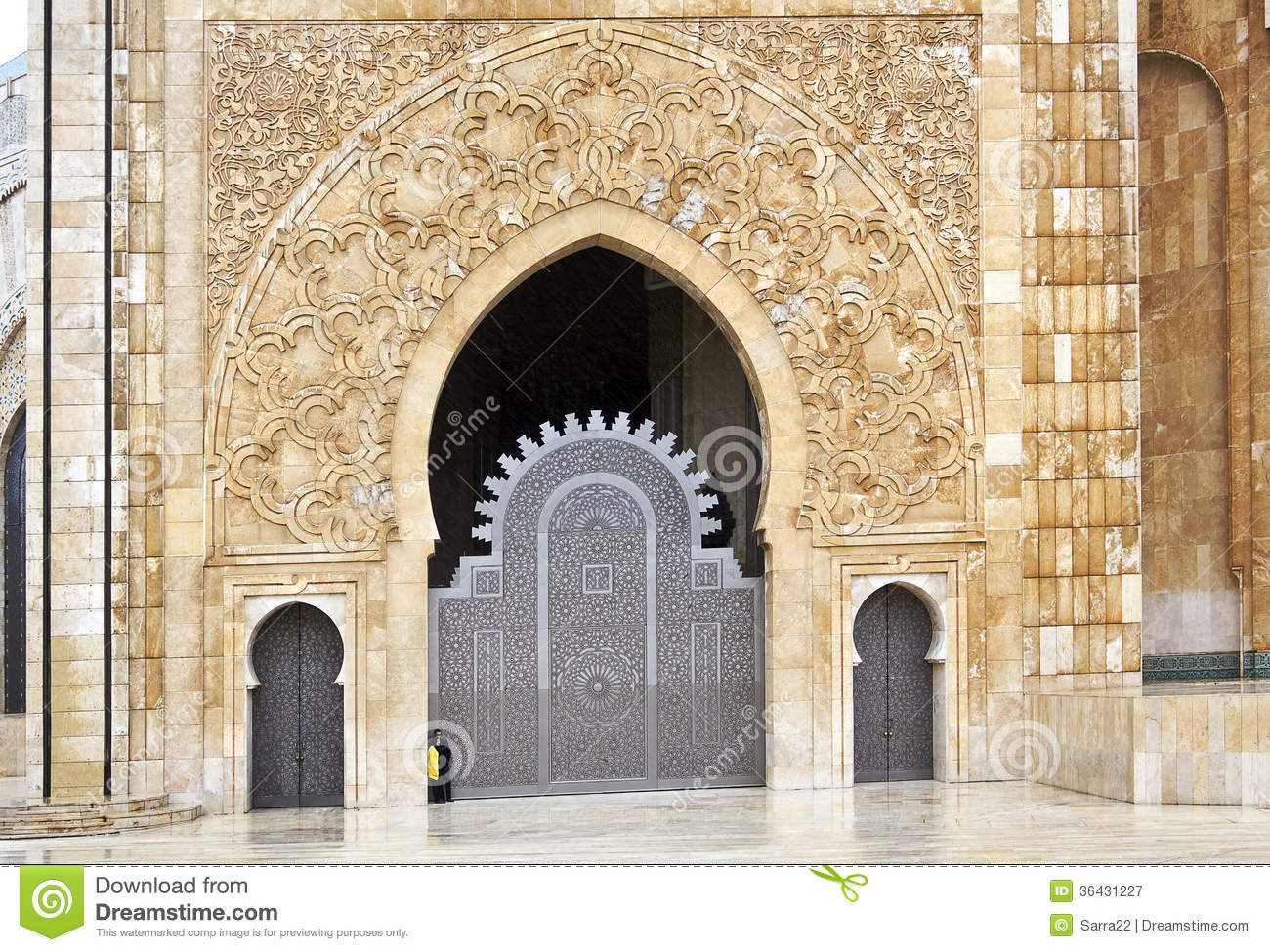 975 #83A328 Ornate Exterior Brass Door Of Hassan II Mosque In Casablanca Morocco. picture/photo Ornate Front Doors 39791300