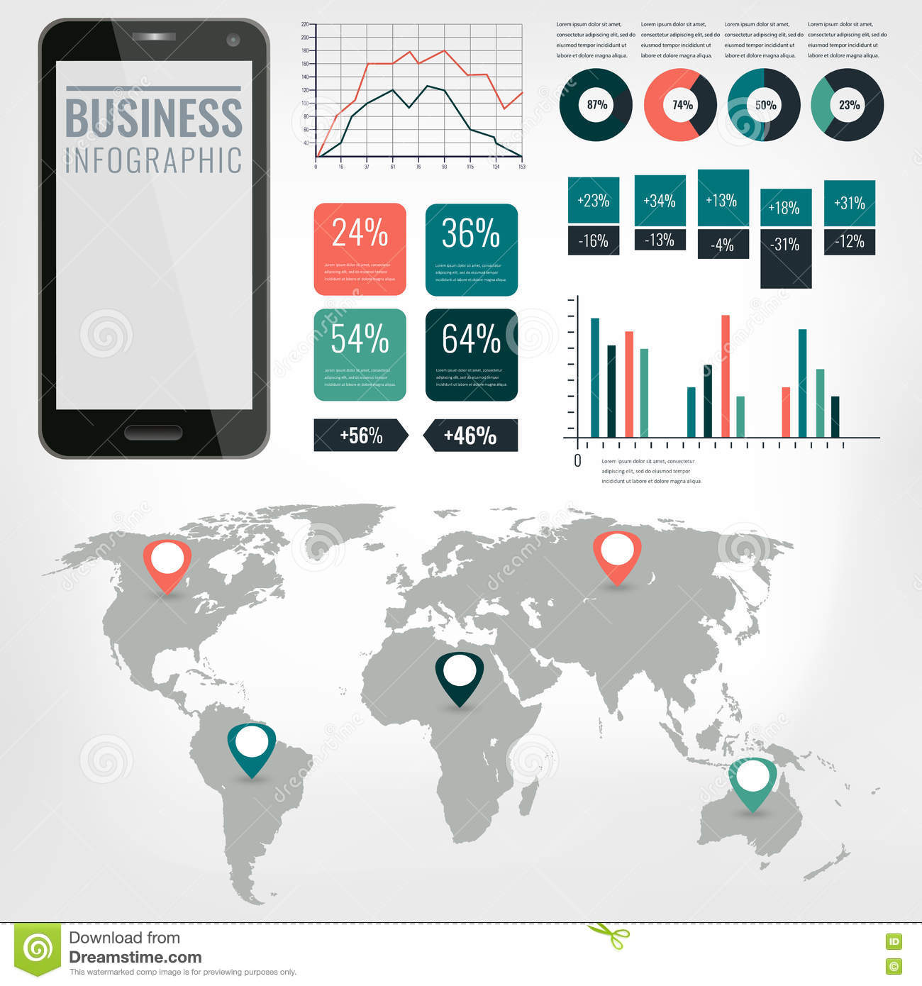 Detail infographic vector illustration world map and information royalty free vector download detail infographic vector illustration world map and information graphics with touchscreen mobile phone publicscrutiny Choice Image