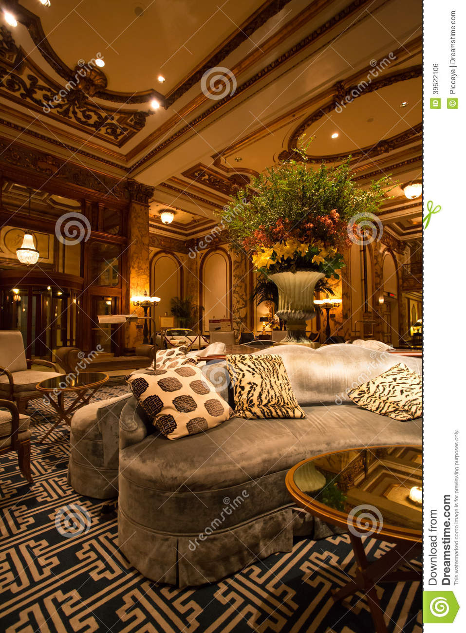 Detail Of The Interior At The Fairmont Hotel Stock Photo
