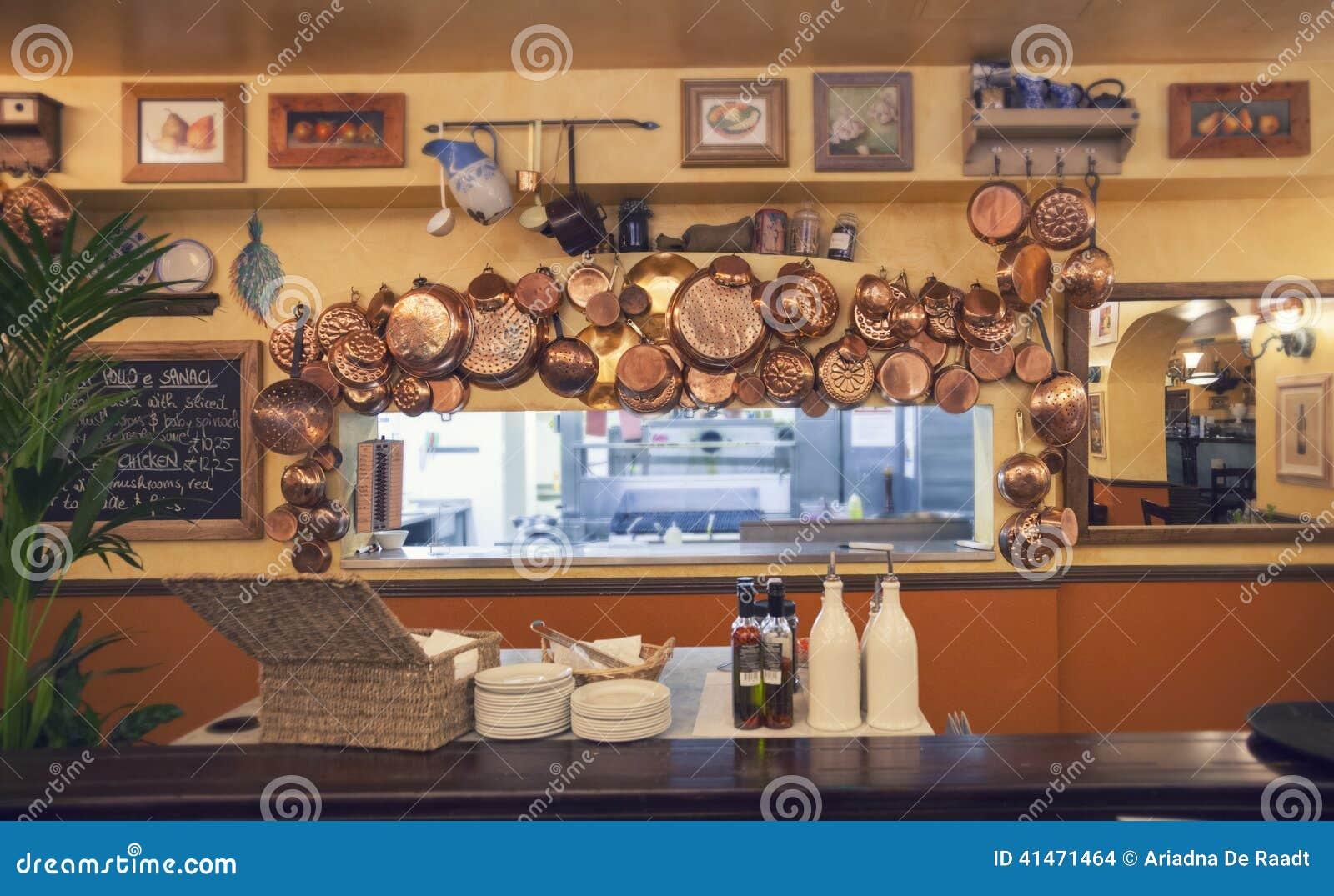 Detail Of Interior Italian Cafe Stock Photo Image