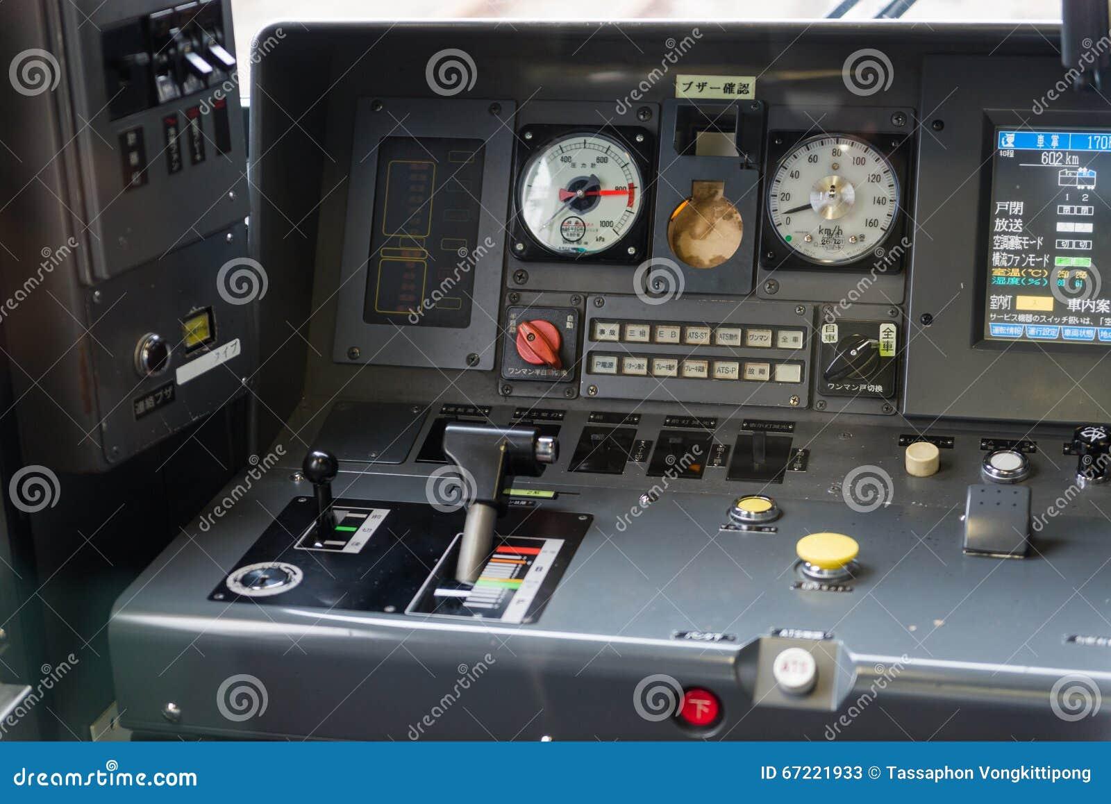 detail interior of japan train controller car dashboard speedometer editorial stock photo. Black Bedroom Furniture Sets. Home Design Ideas