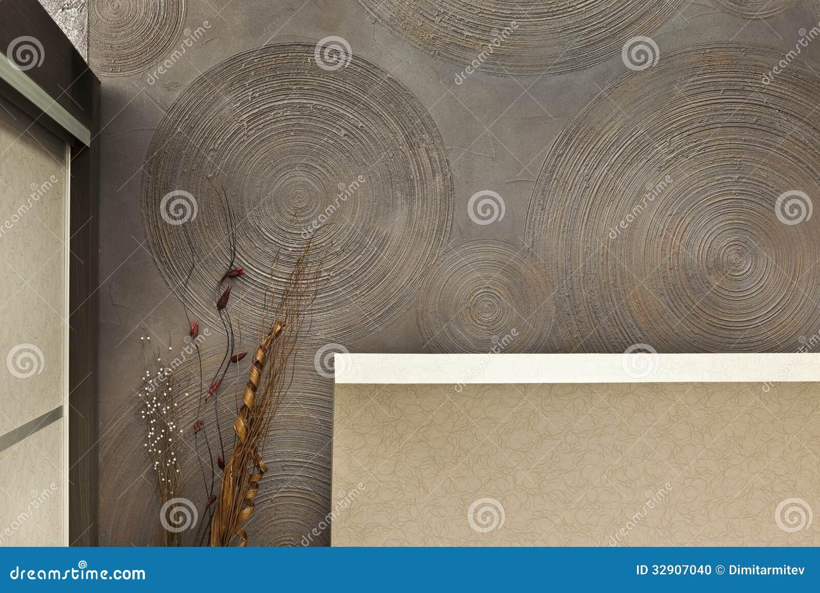 Decorative Interior Plastering : Detail of interior stock photo image