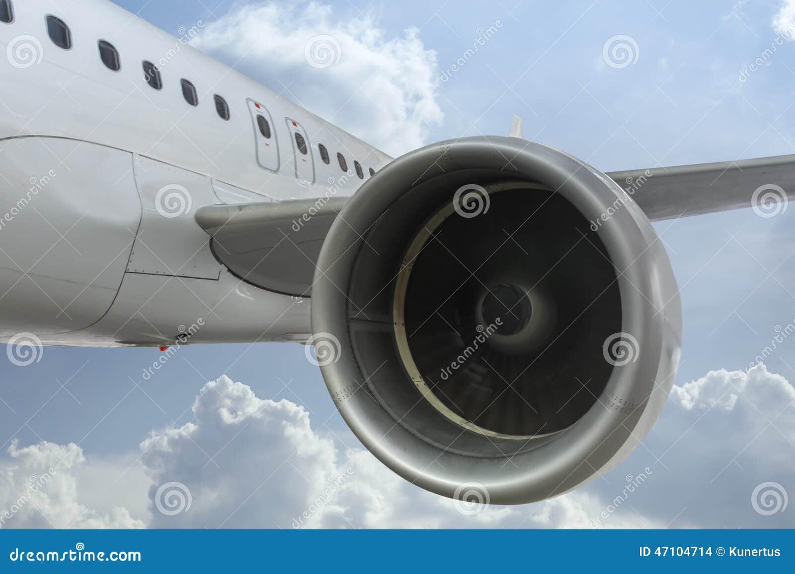 Detail of Jet Engine inflight