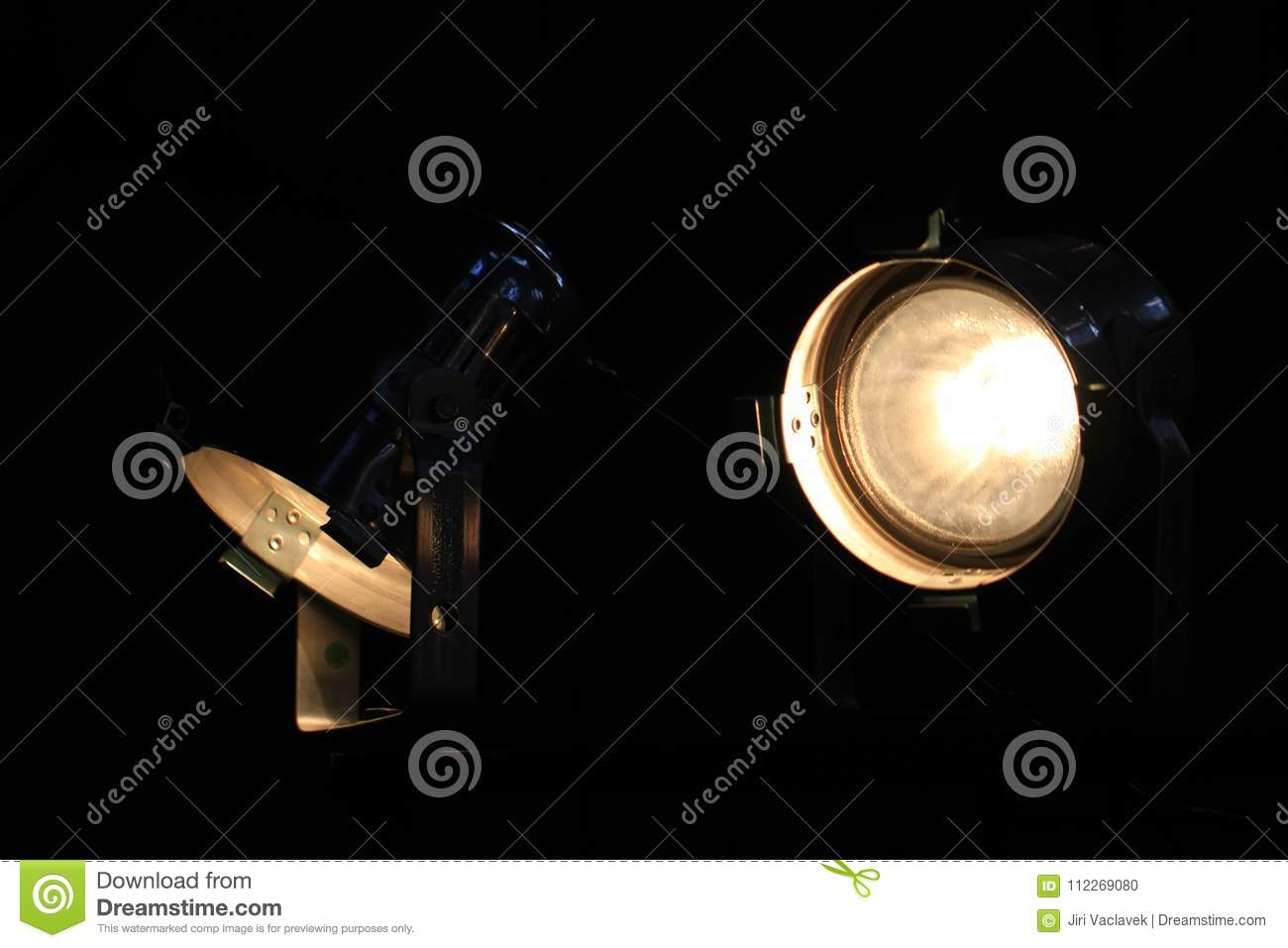 Detail of lamps from ramp stock photo  Image of night - 112269080
